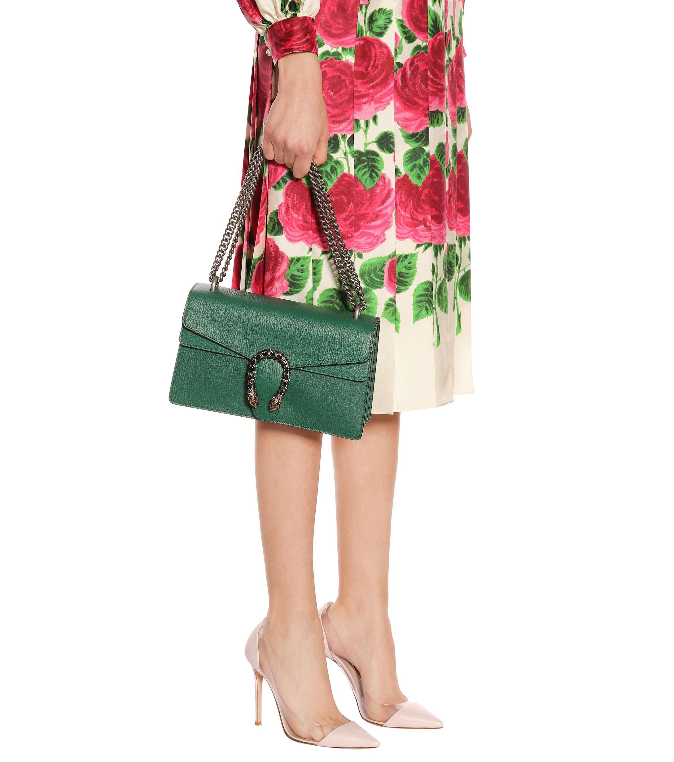0f99b73e11b3 Gucci - Green Dionysus Small Leather Shoulder Bag - Lyst. View fullscreen