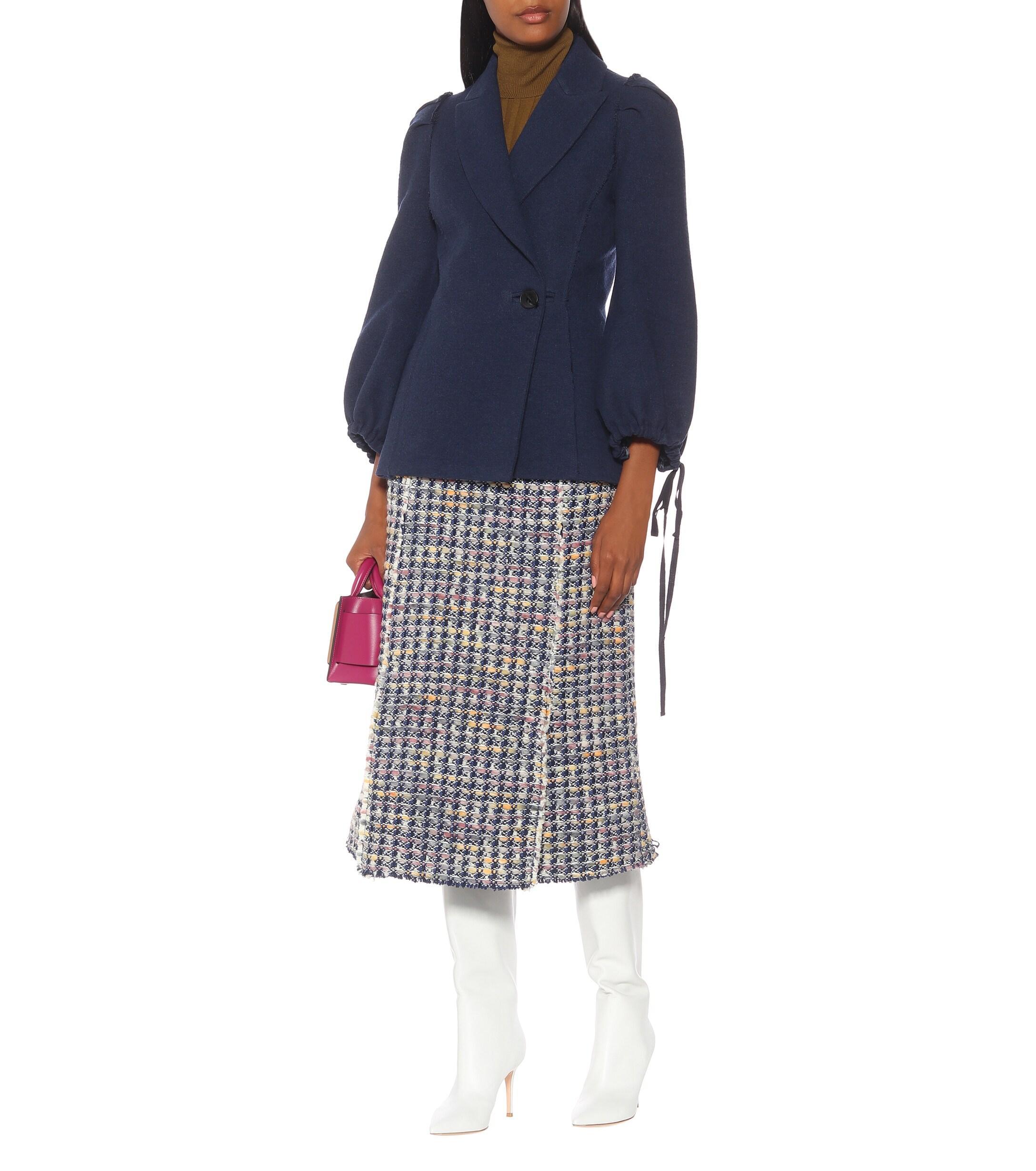 Chaqueta Pandolfi de lana y lino Brock Collection de Lana de color Azul