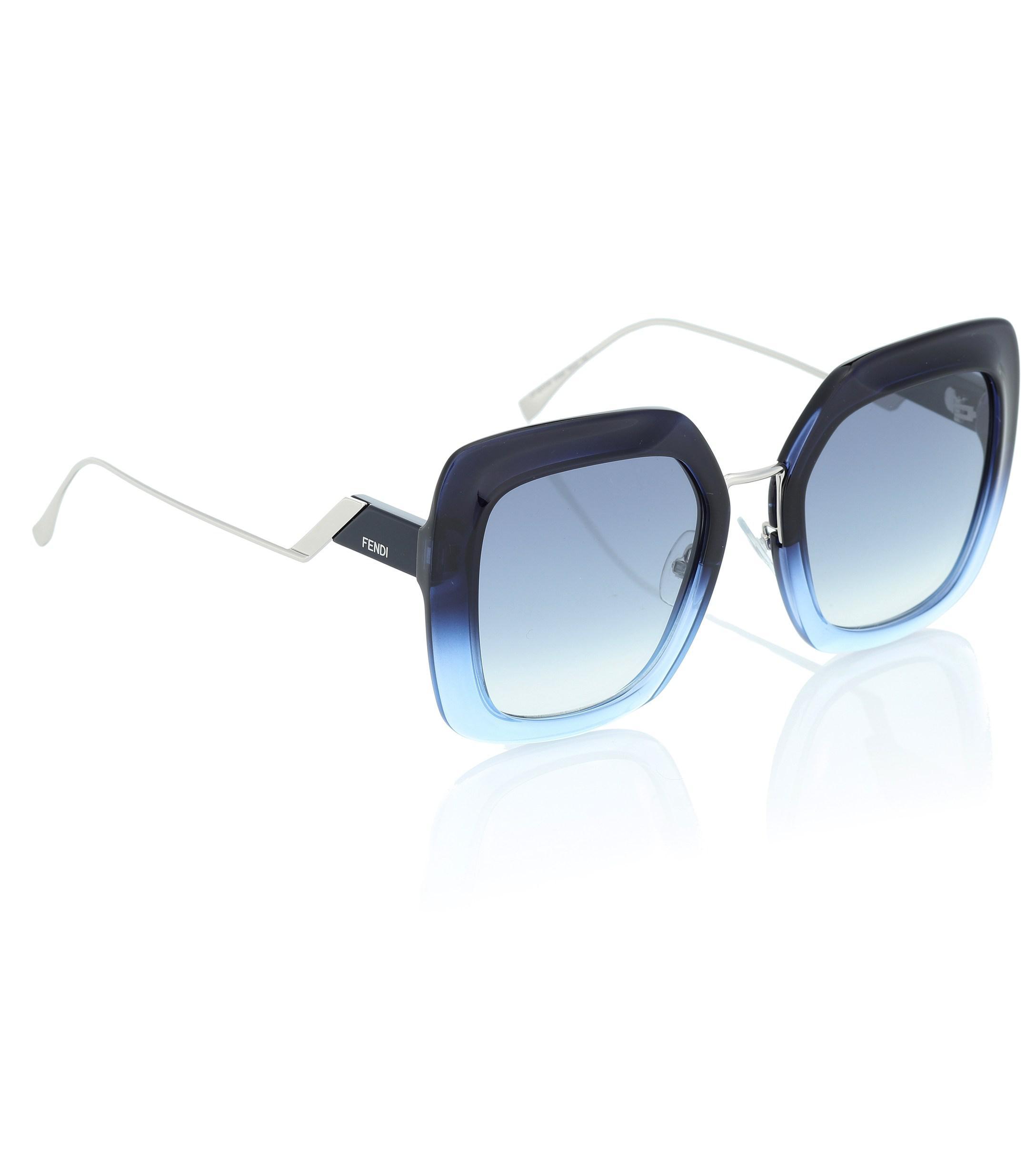 Shine Tropical Blue Soleil En Fendi Coloris Carrées De Lunettes UVMzpS