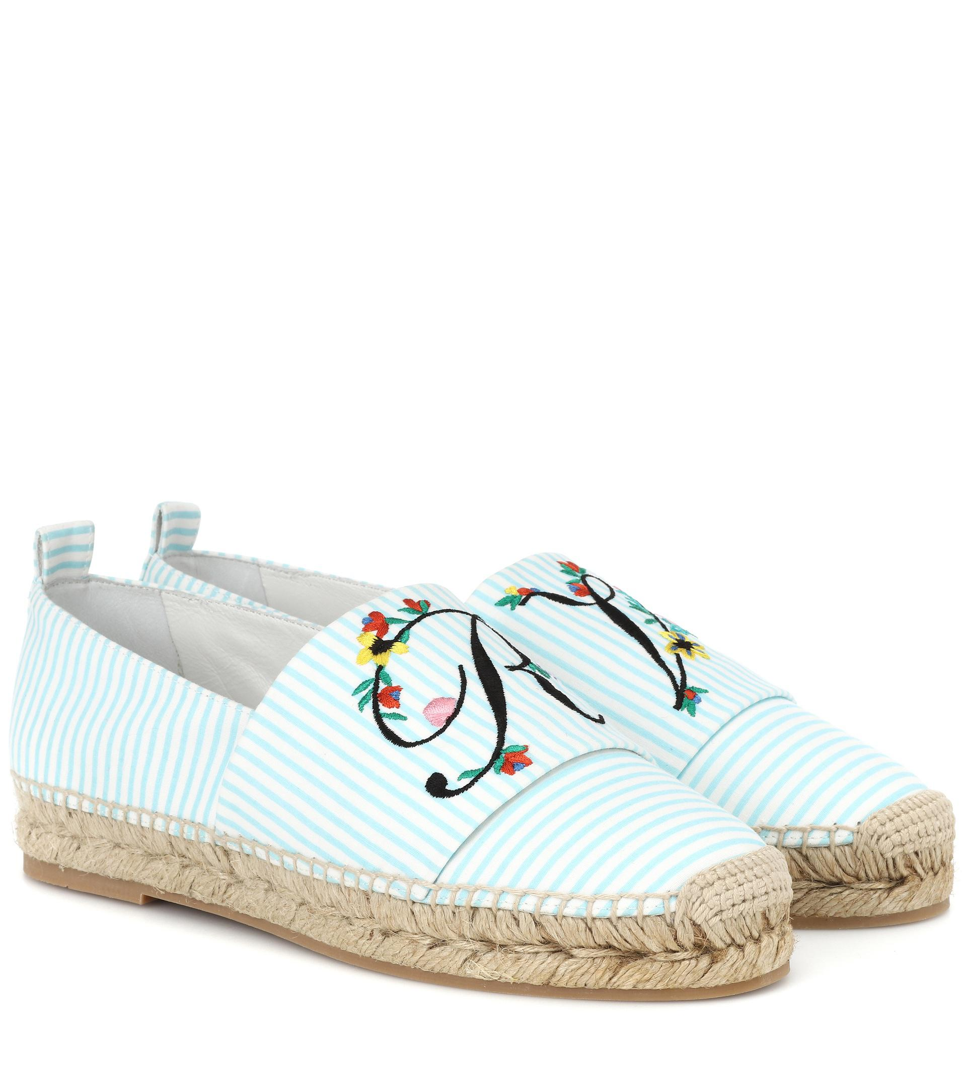 Roger Vivier Blooming RV canvas espadrilles