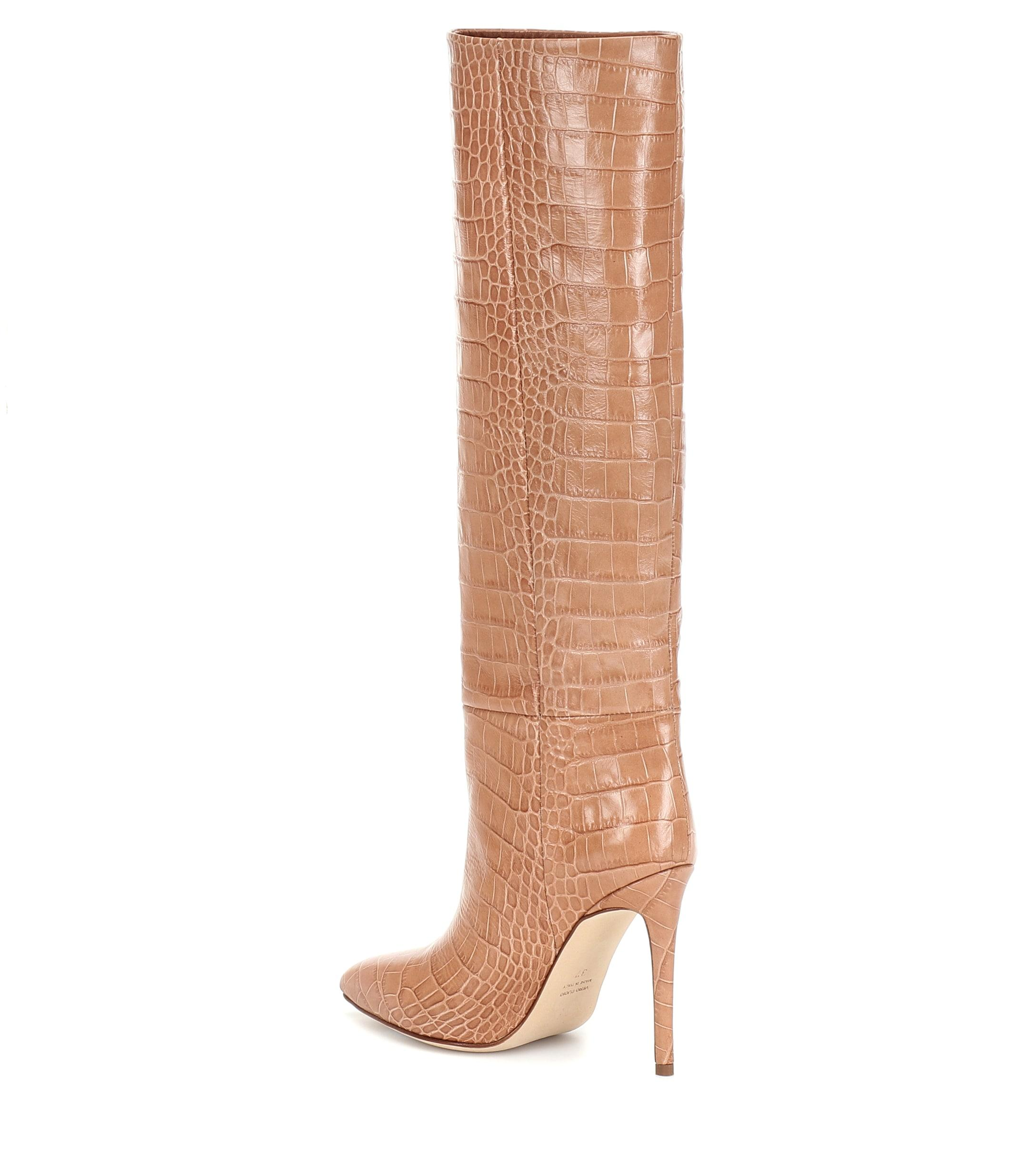 Botas de piel efecto coco Paris Texas de color Neutro