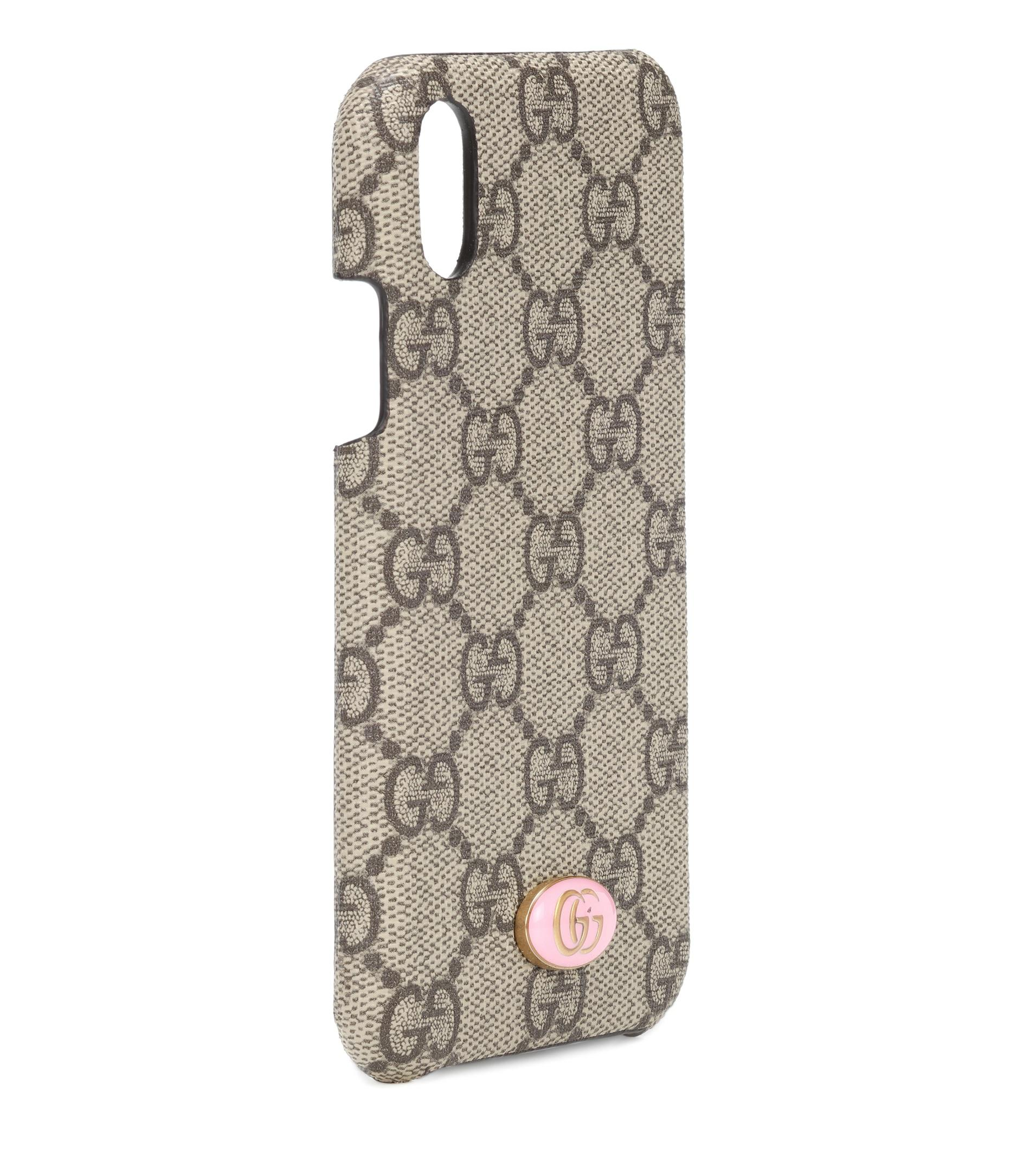 free shipping 32fd0 59b63 Gucci Natural Gg Iphone X Case