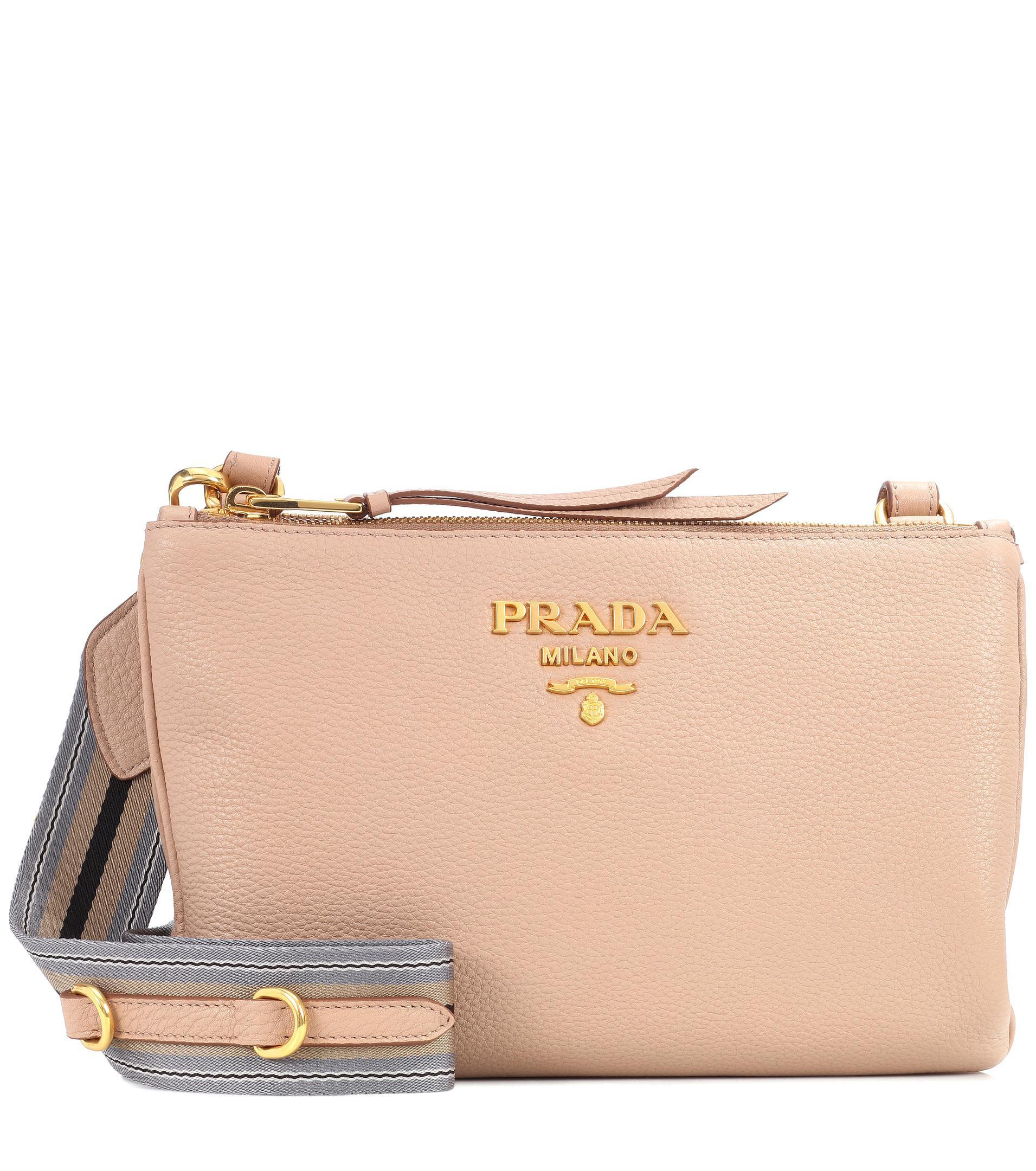 df57afcb Prada Natural Daino Small Leather Crossbody Bag