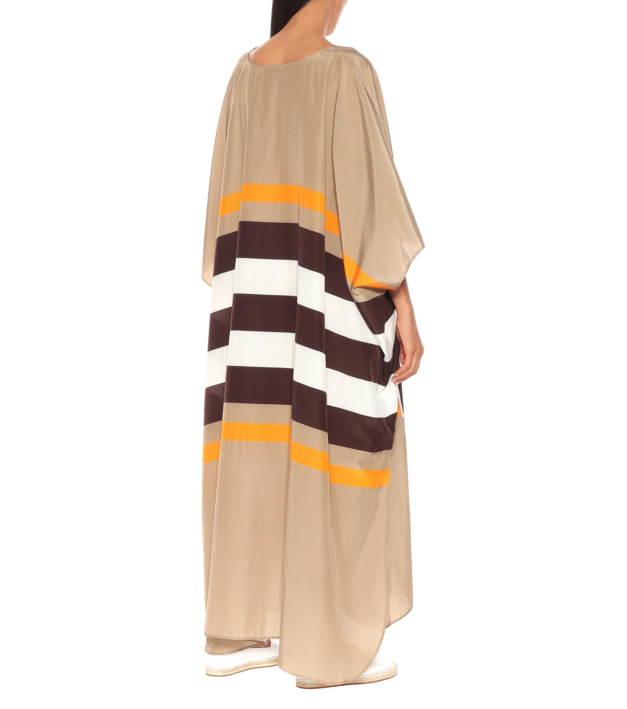 Exclusivo en Mytheresa �?caftán Kalani de algodón y seda Burberry de color Negro