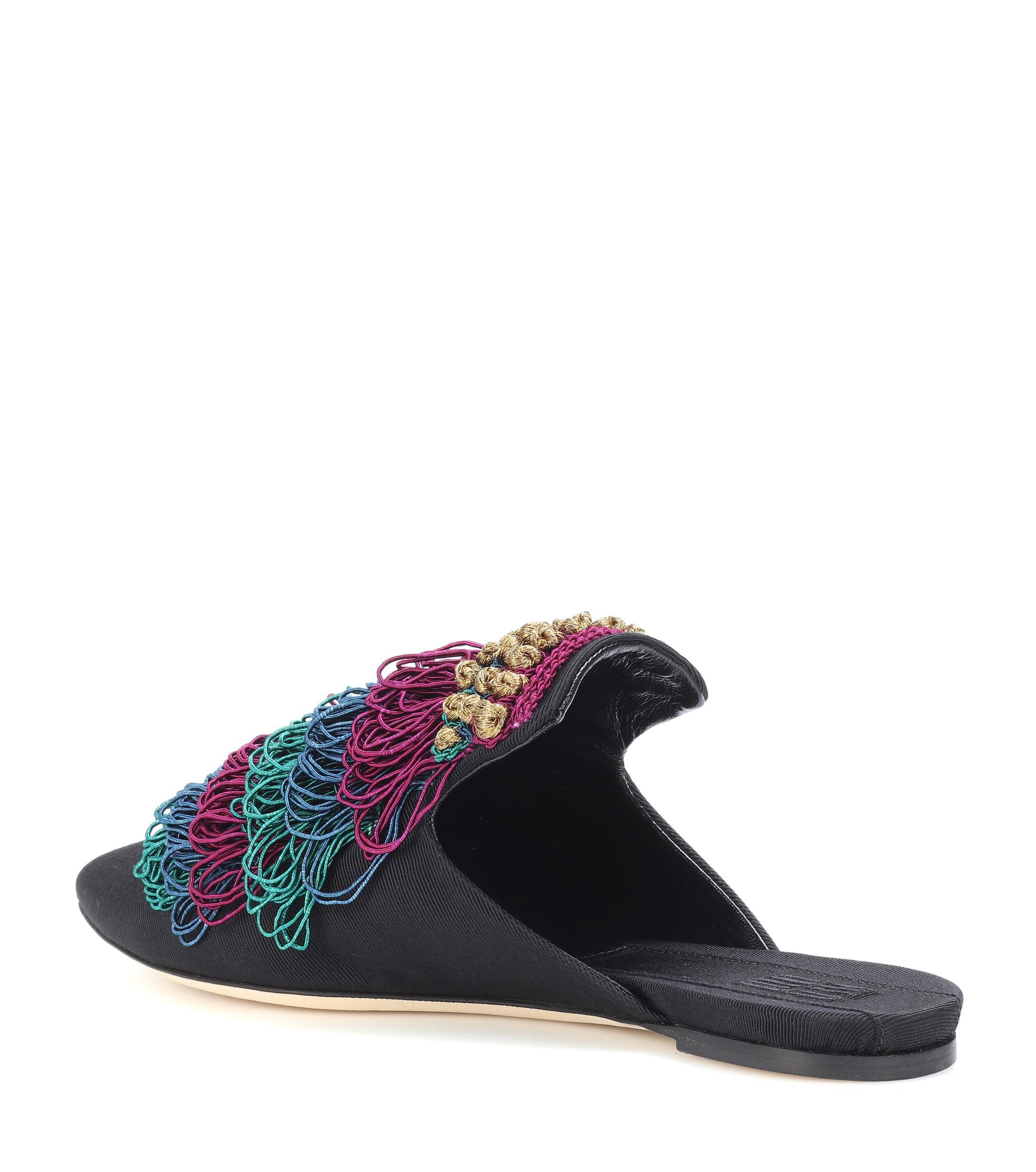 Slippers Alegra con adornos Sanayi 313 de color Negro