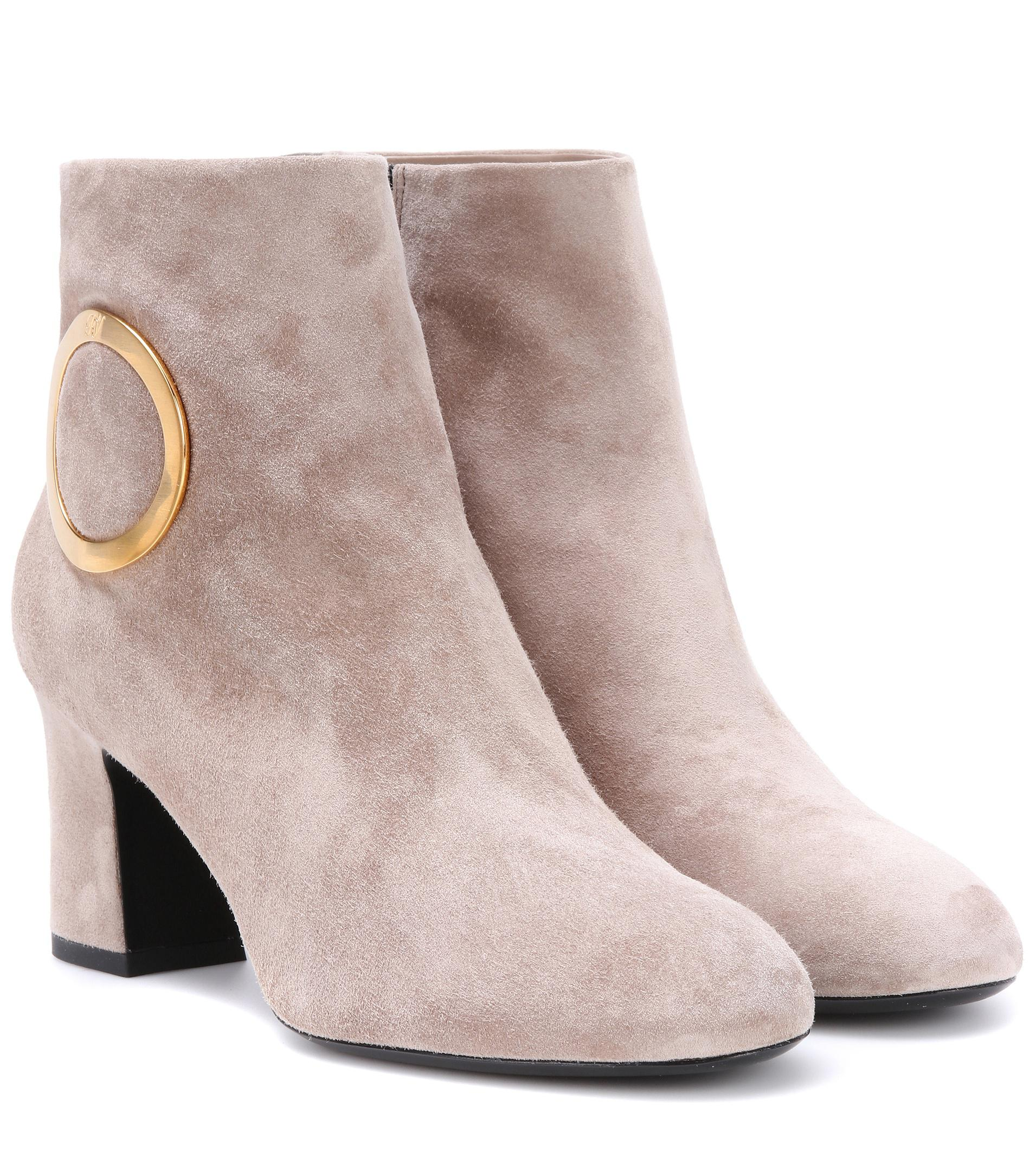 Roger Vivier Chunky Trompette suede ankle boots gUbDu
