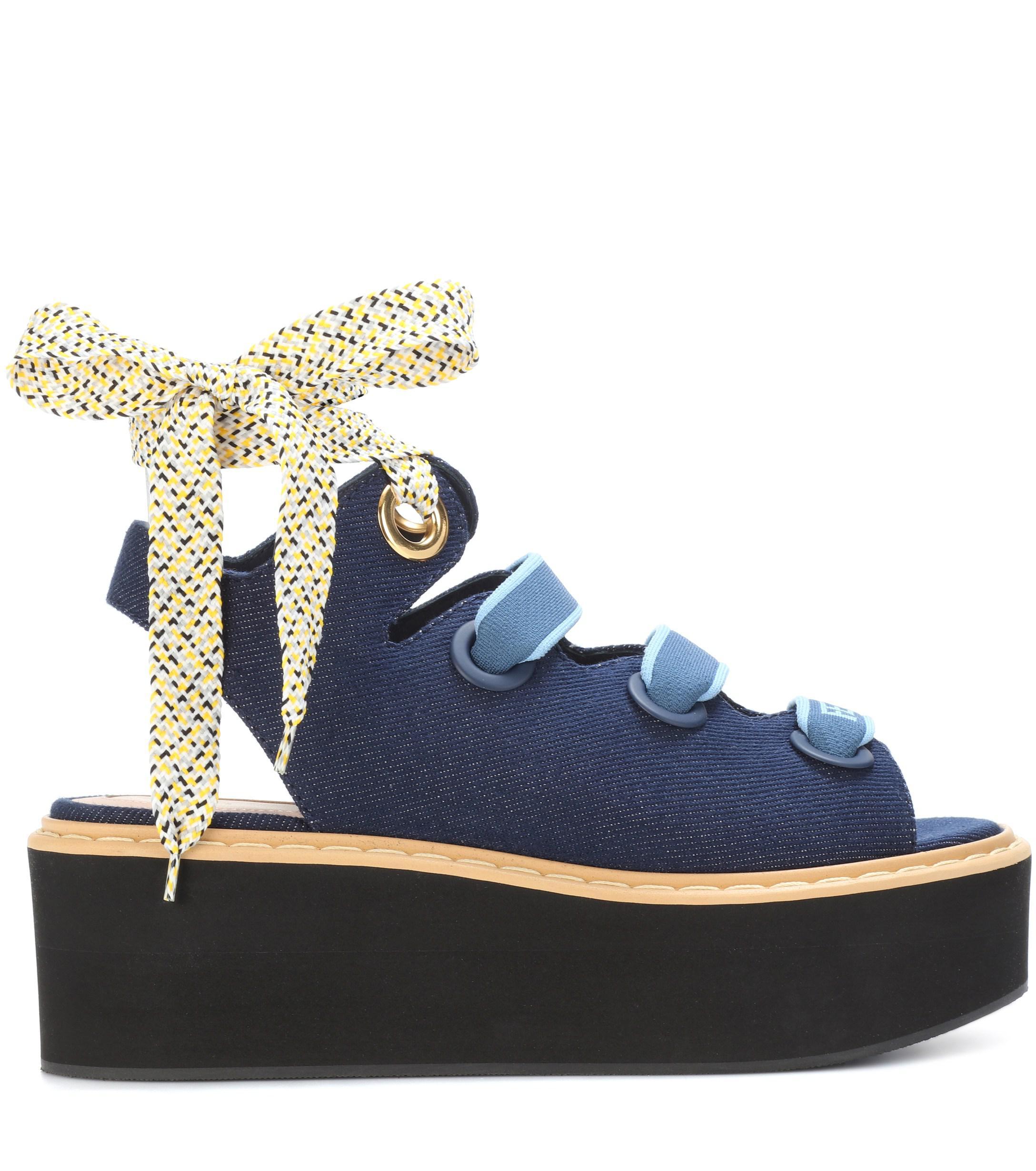 Women's Denim Blue Sandals Blue Denim Women's Platform 8kwOXn0P