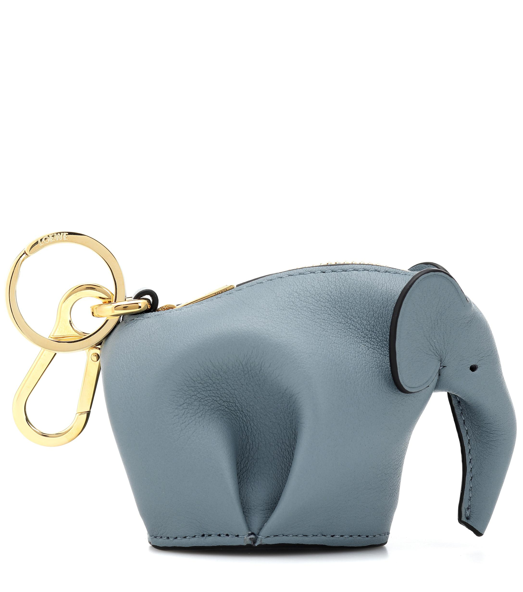 Off White Grey Elephant Silicone Rubber Silicone  Coin Purse Small Coin Bags