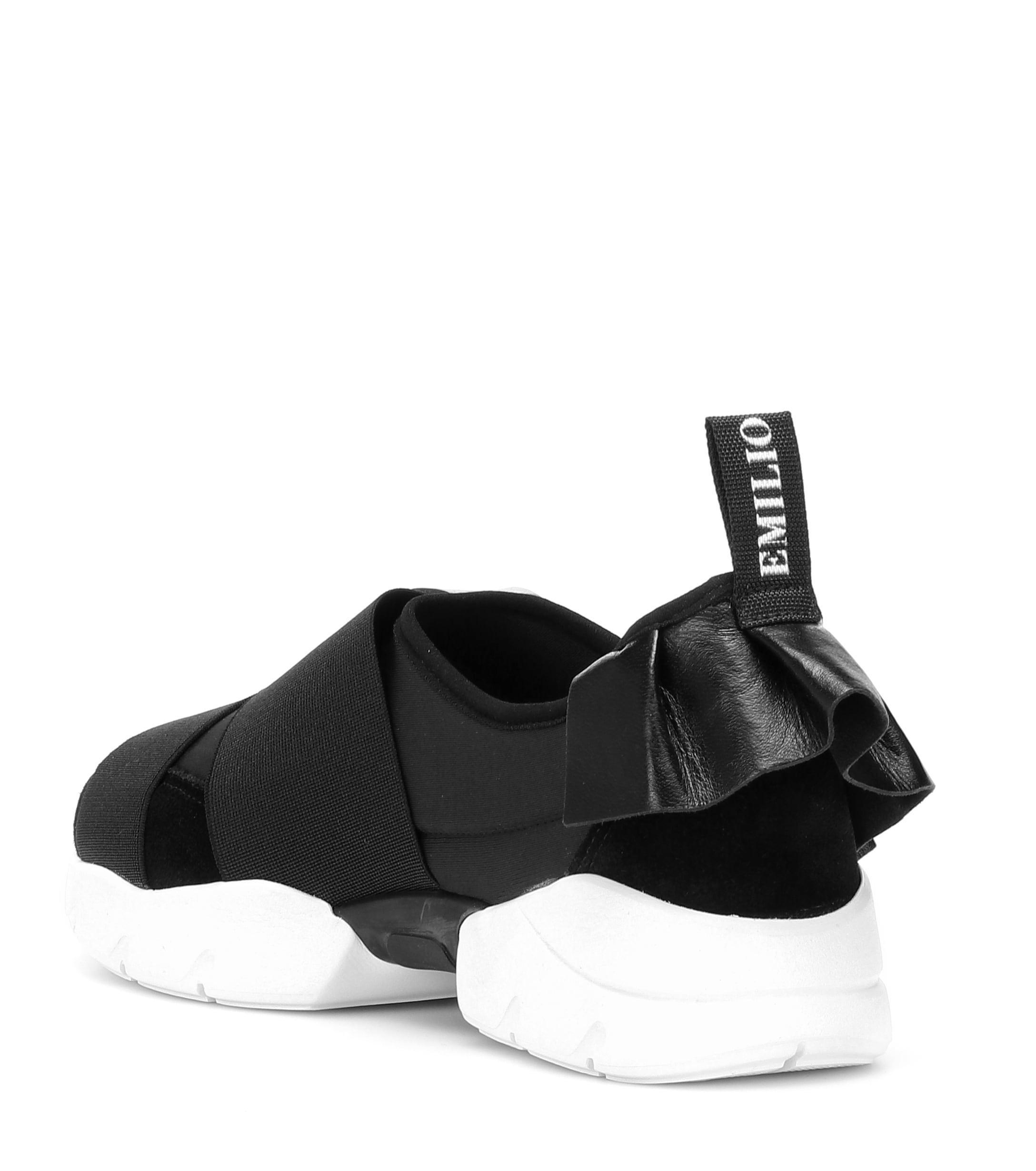 Zapatillas con detalles de piel Emilio Pucci de color Negro