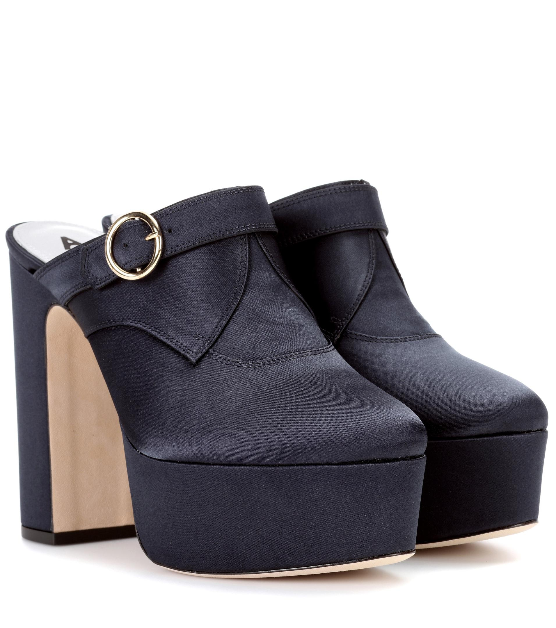 AlexaChung Woman Buckled Patent-leather Platform Mules Size 40 AlQuSWc