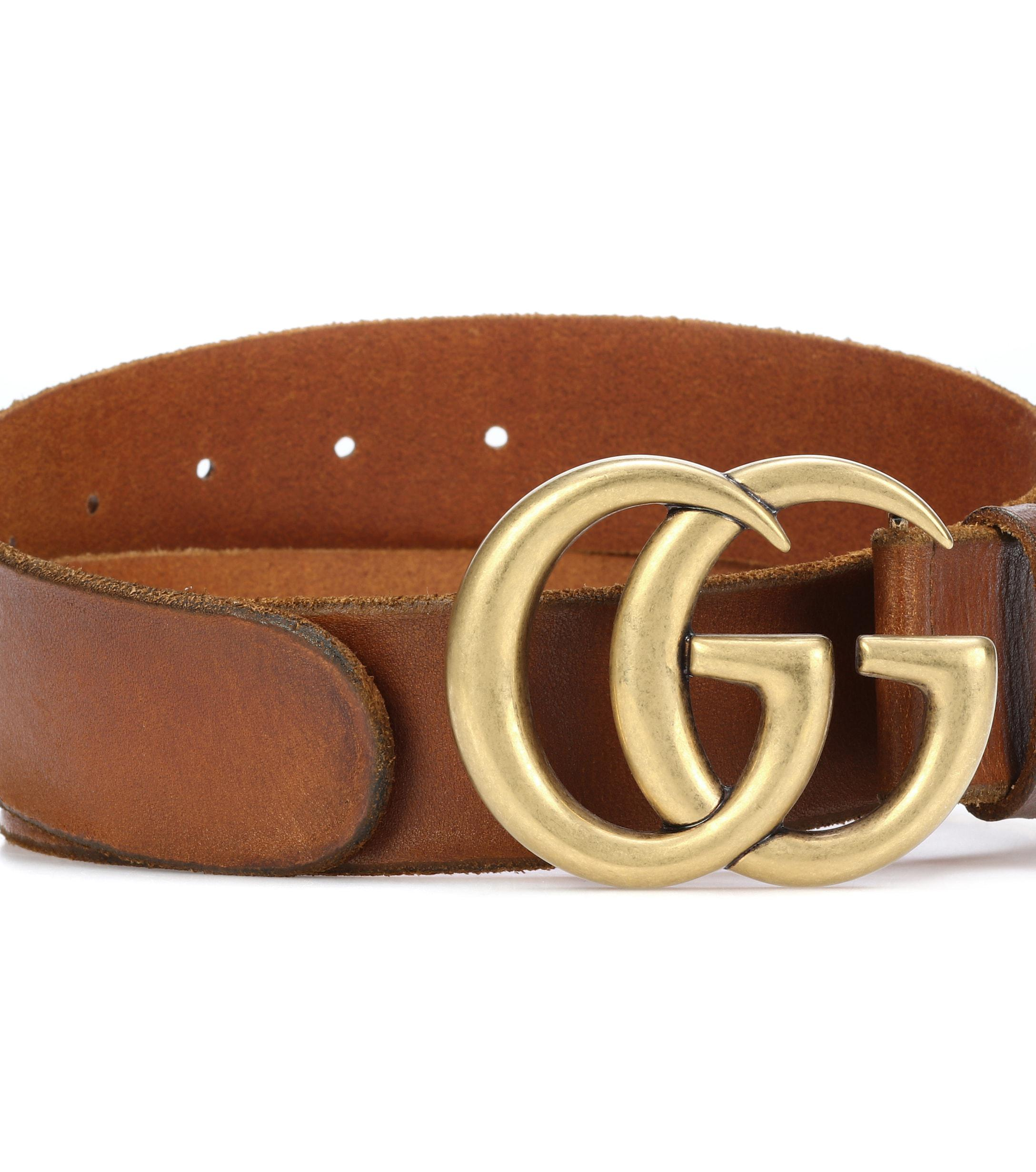 63118a1bafd Gucci - Brown Embellished Leather Belt - Lyst. View fullscreen