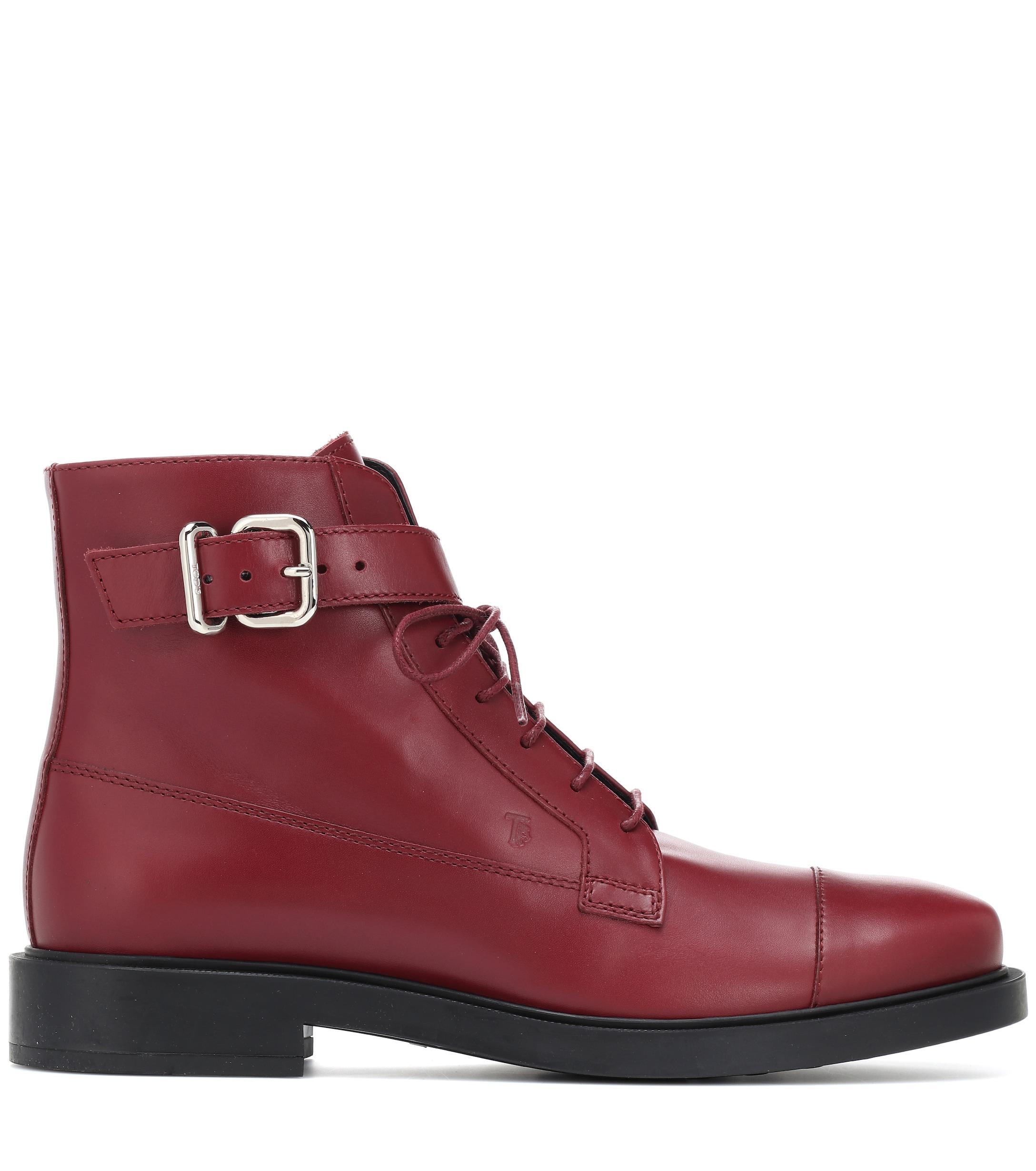 Botines de piel Tod's de Cuero de color Rojo