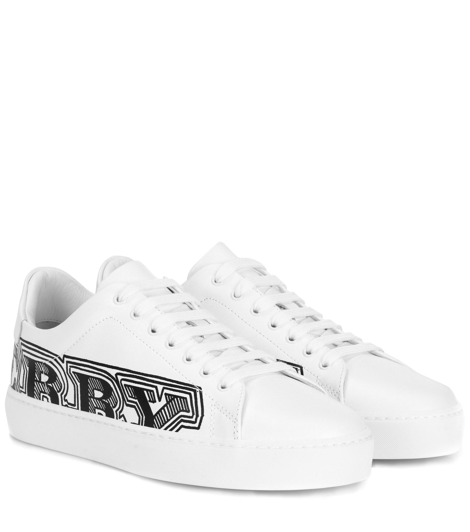 Printed leather sneakers Burberry PQ4T8H4j7