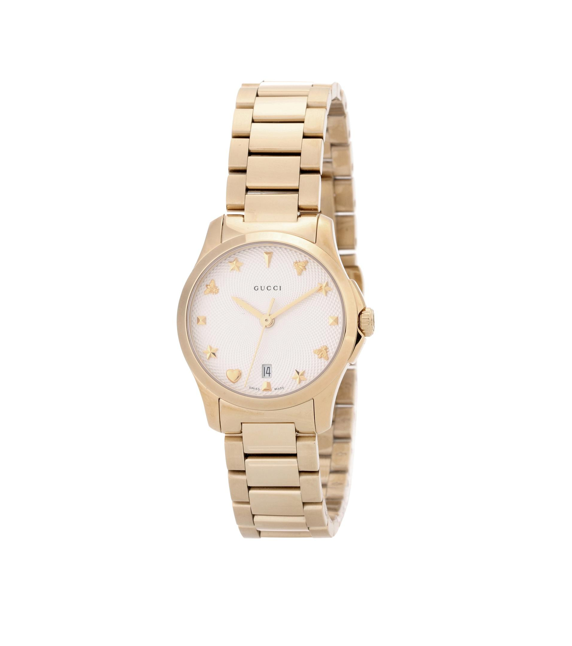 f900c03b896 Gucci - Metallic G-timeless Small Gold-plated Stainless Steel Watch - Lyst.  View fullscreen