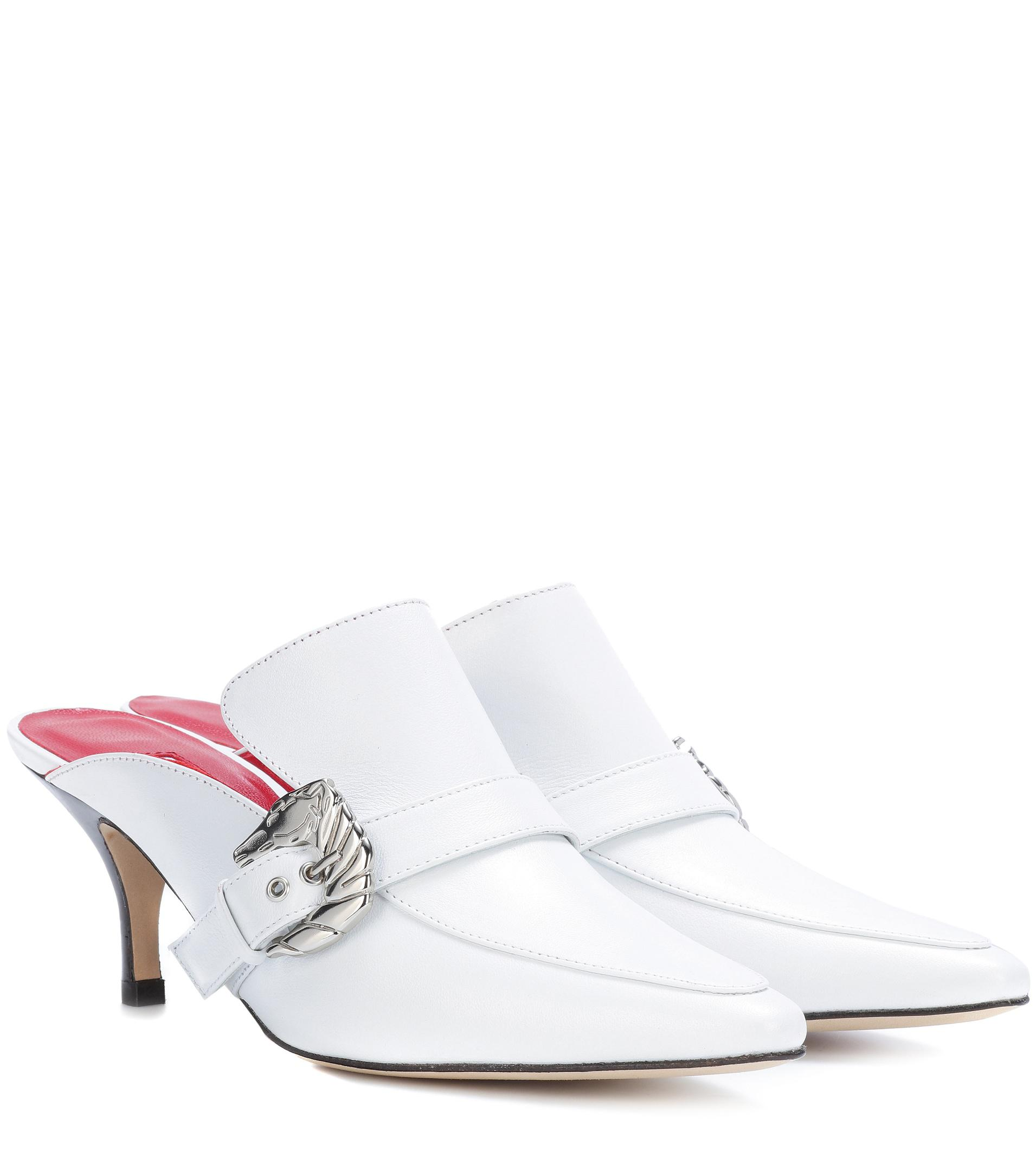 new style f4ad4 abe51 dorateymur-white-Cabriolet-Leather-Mules.jpeg