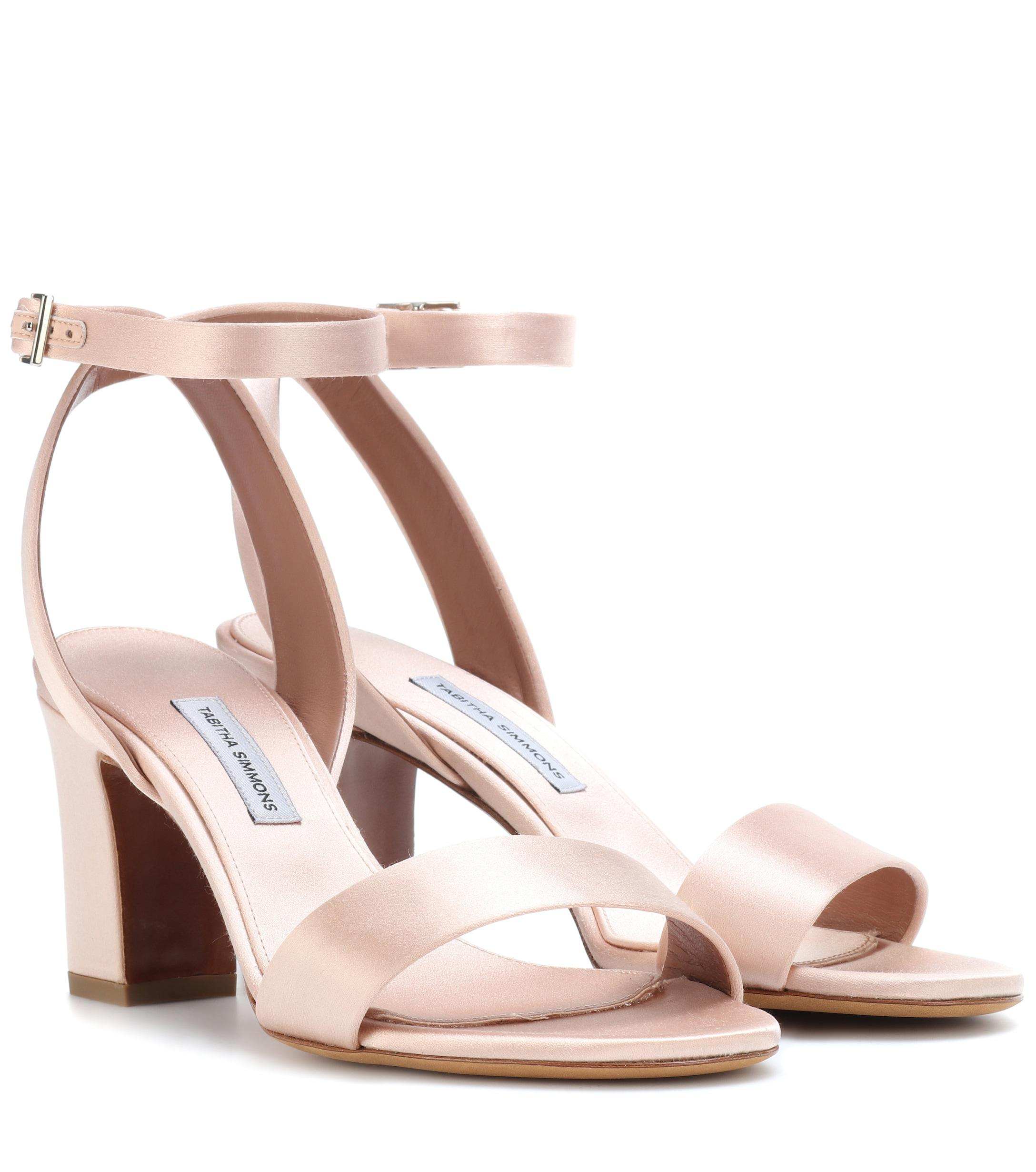 0a108217193 Tabitha Simmons - Pink Leticia Satin Sandals - Lyst. View fullscreen