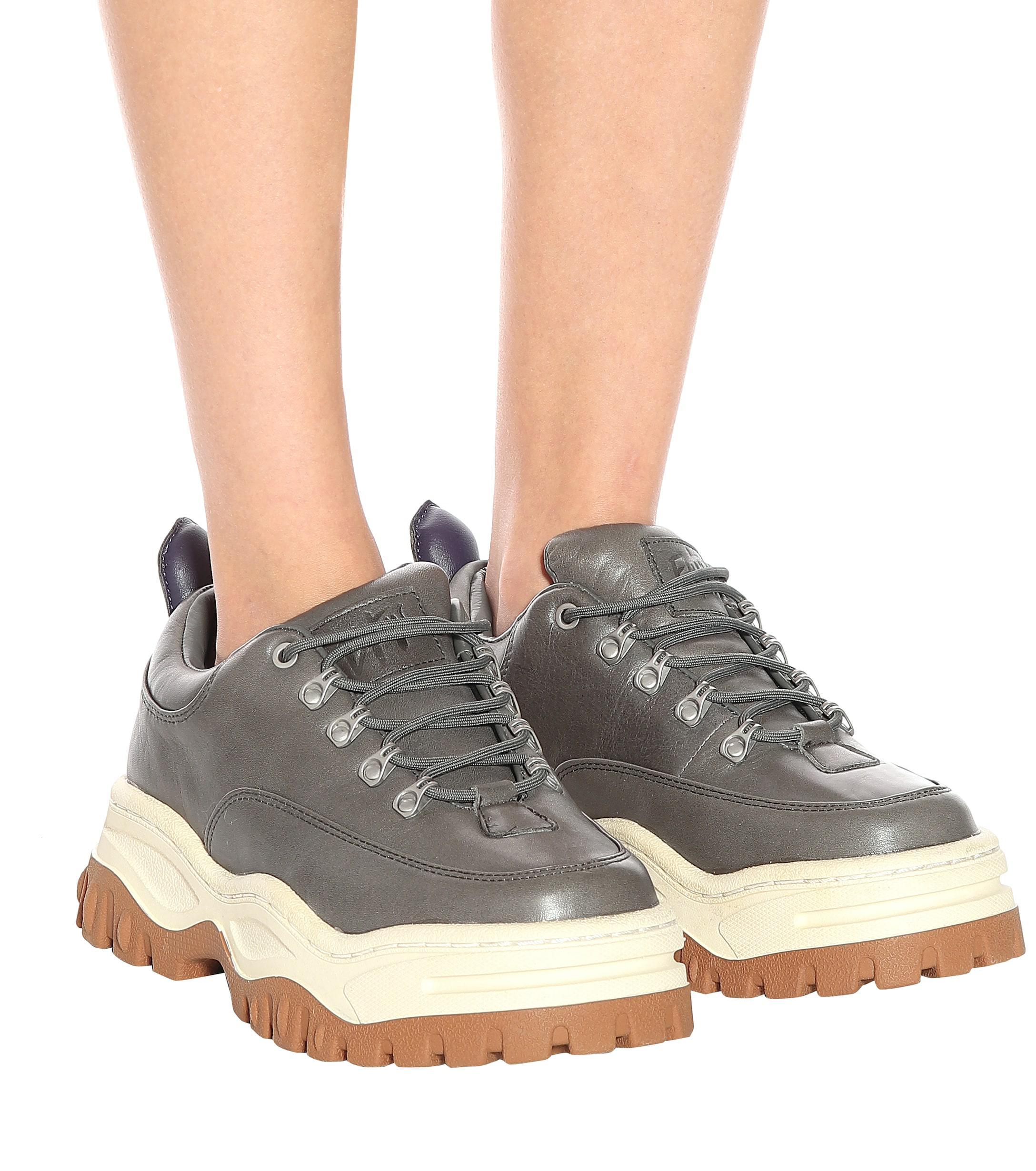Eytys Angel Leather Sneakers in Sage