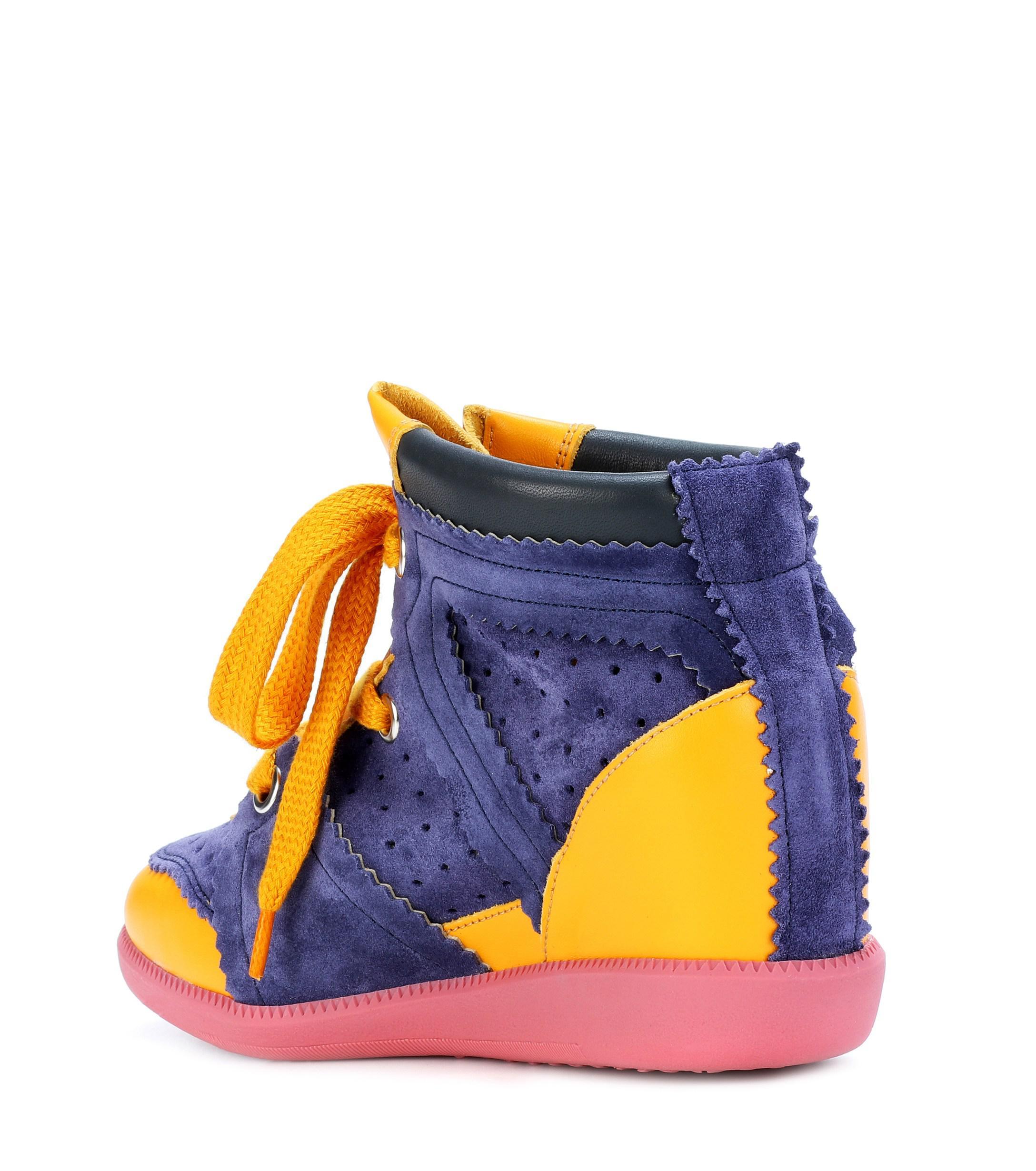 Zapatillas Betty de gamuza con talón de cuña Isabel Marant de color Azul