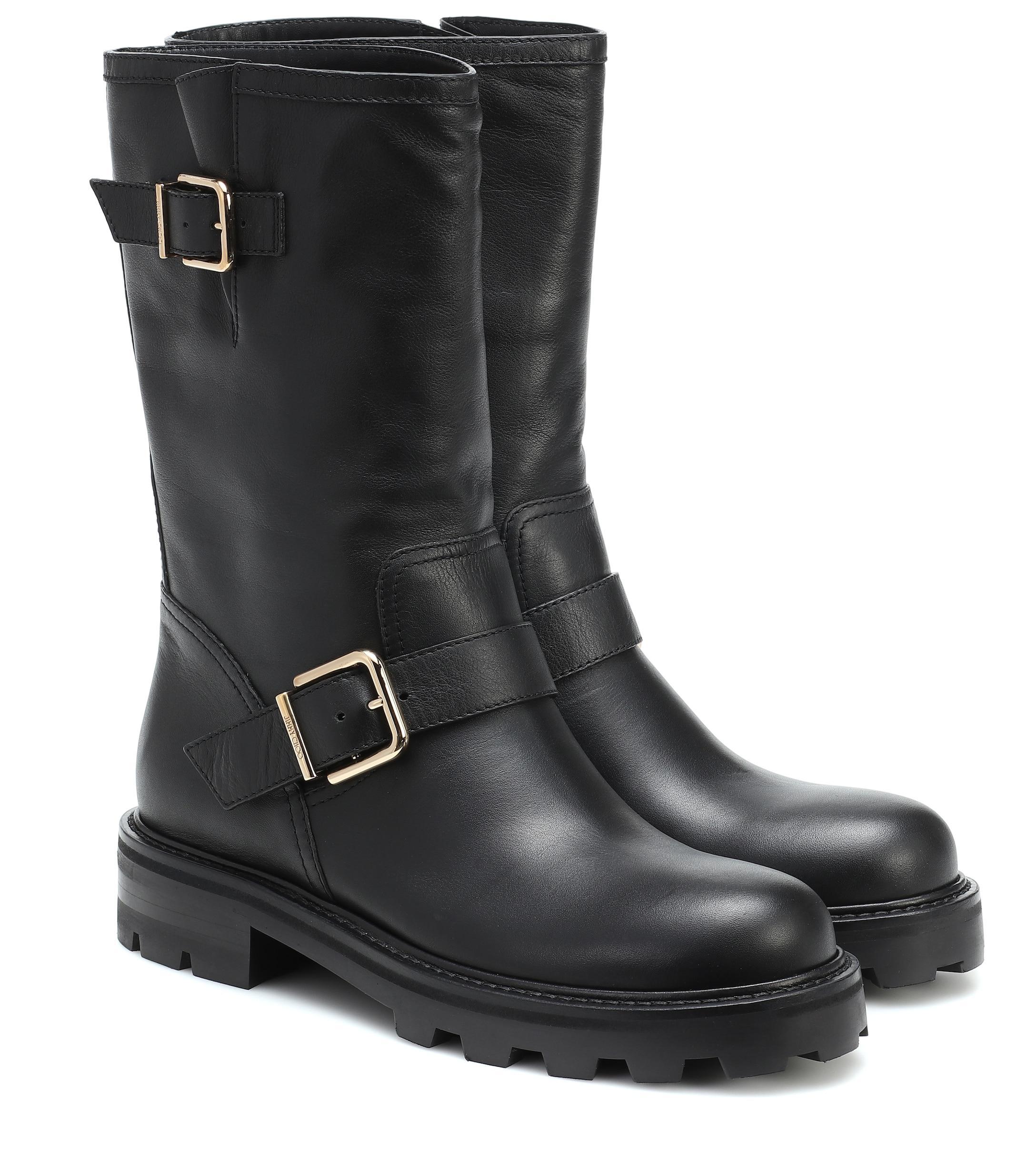 Jimmy Choo Biker Ii Leather Boots in