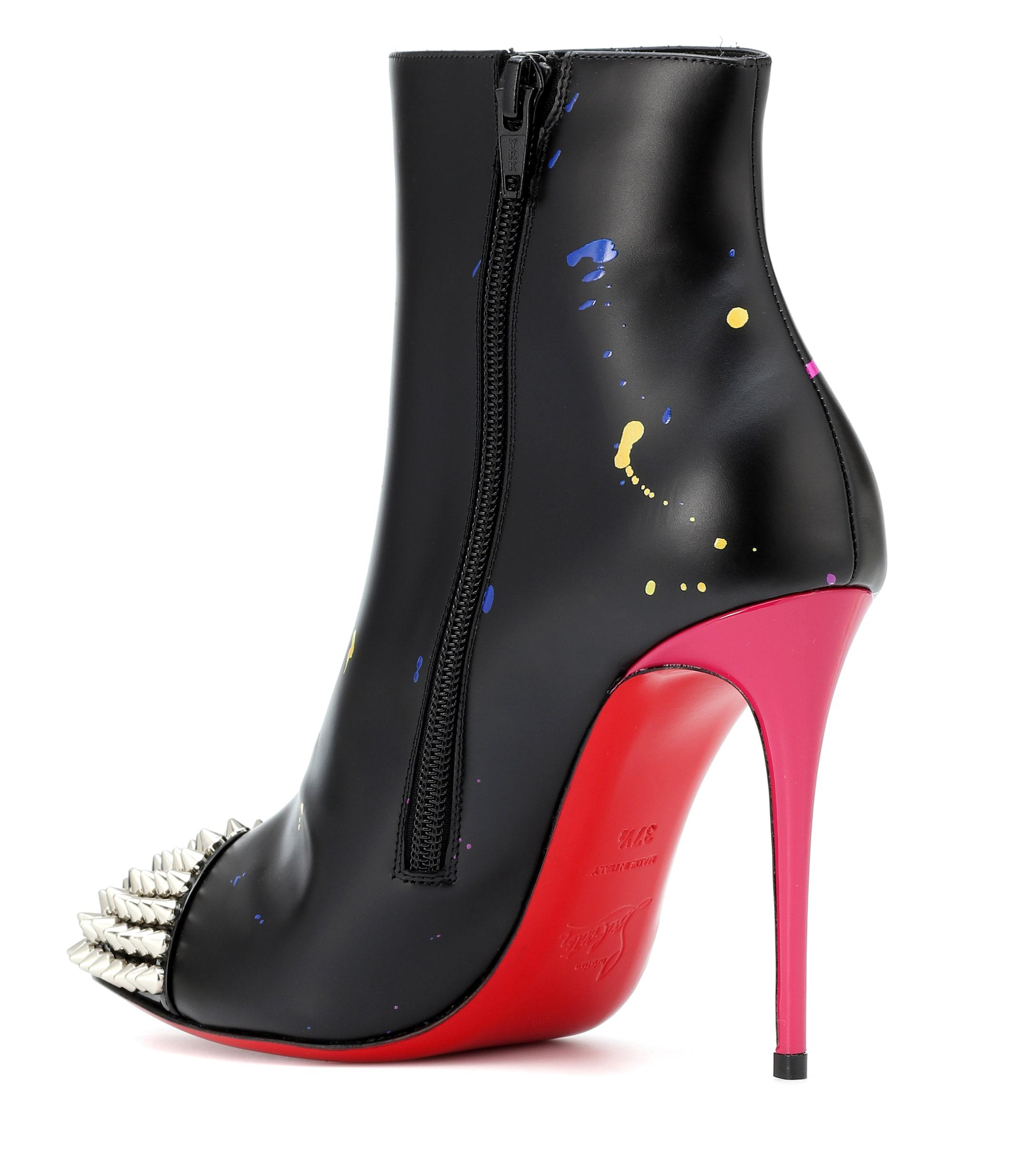fe0ebdae0229 Christian Louboutin - Black Love Is A Boot 100 Ankle Boots - Lyst. View  fullscreen