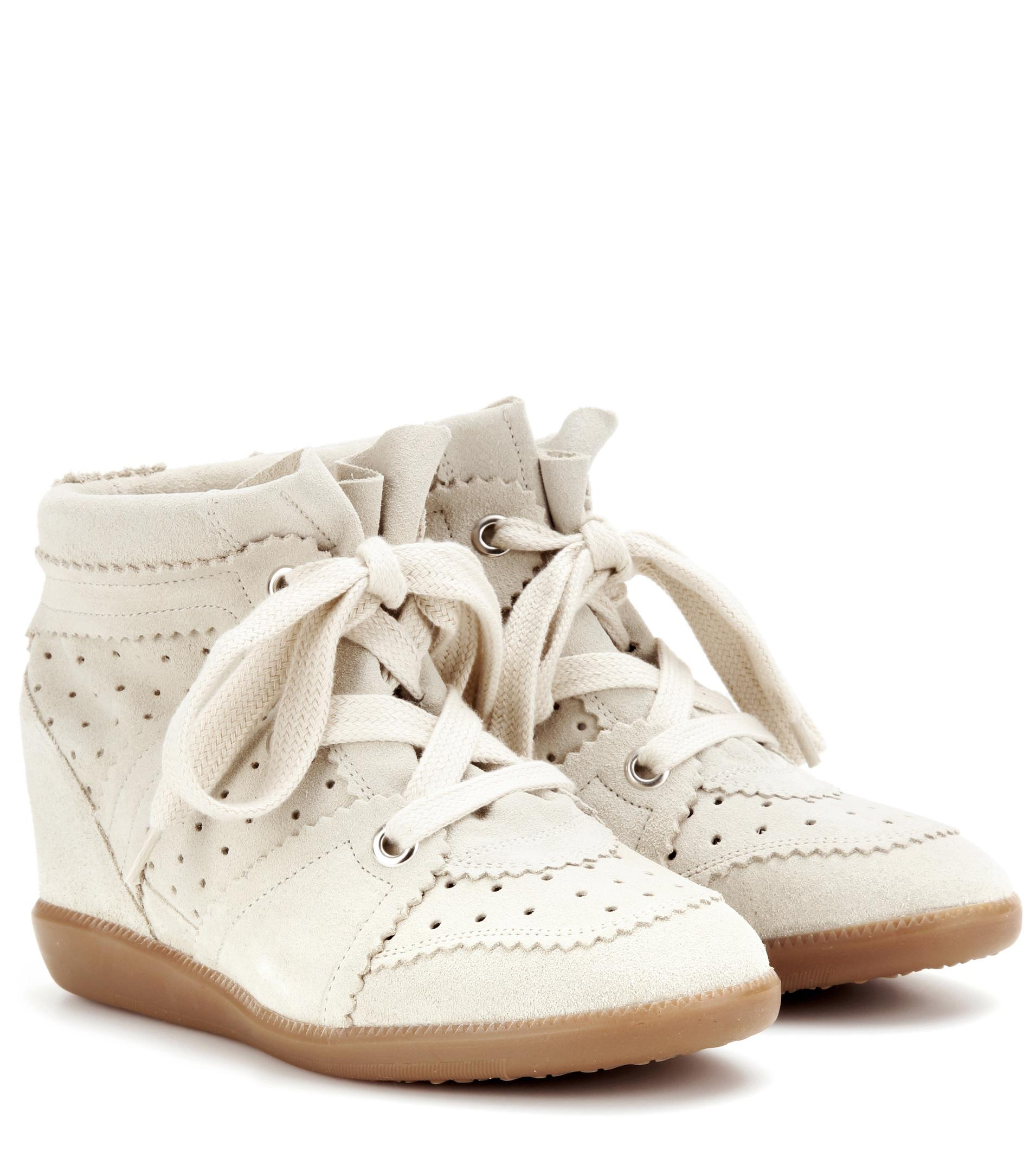 isabel marant toile bobby suede wedge trainers lyst. Black Bedroom Furniture Sets. Home Design Ideas