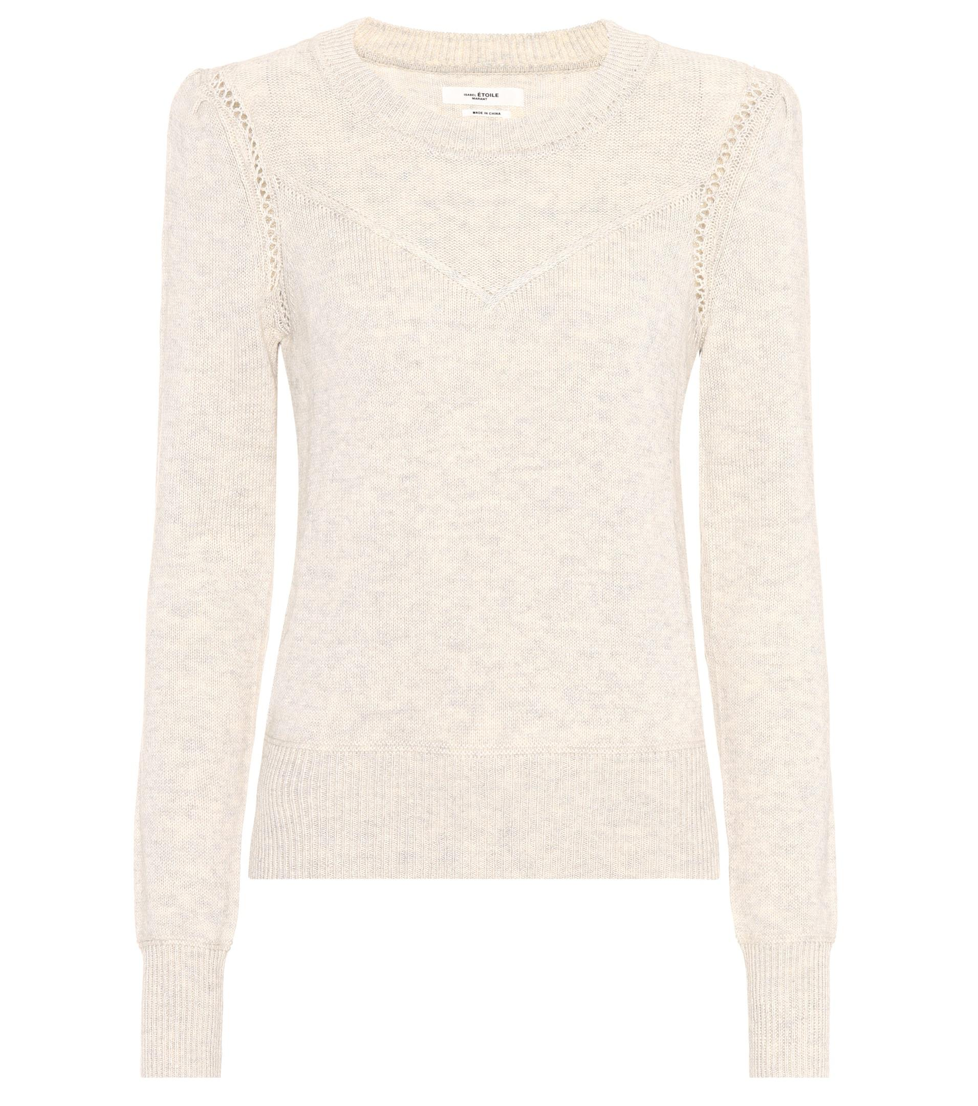 Étoile isabel marant Kios Cotton And Wool Sweater in Gray | Lyst