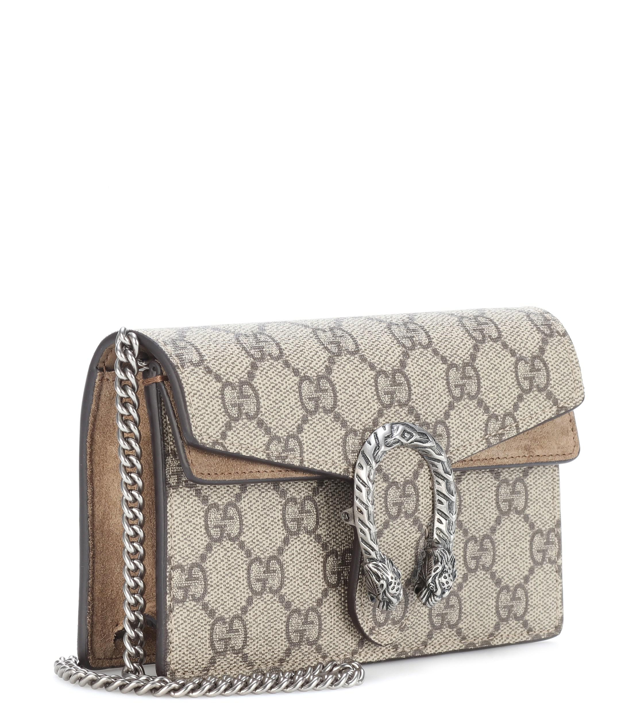c2935bfc56 Gucci - Natural Dionysus GG Supreme Super Mini Shoulder Bag - Lyst. View  fullscreen