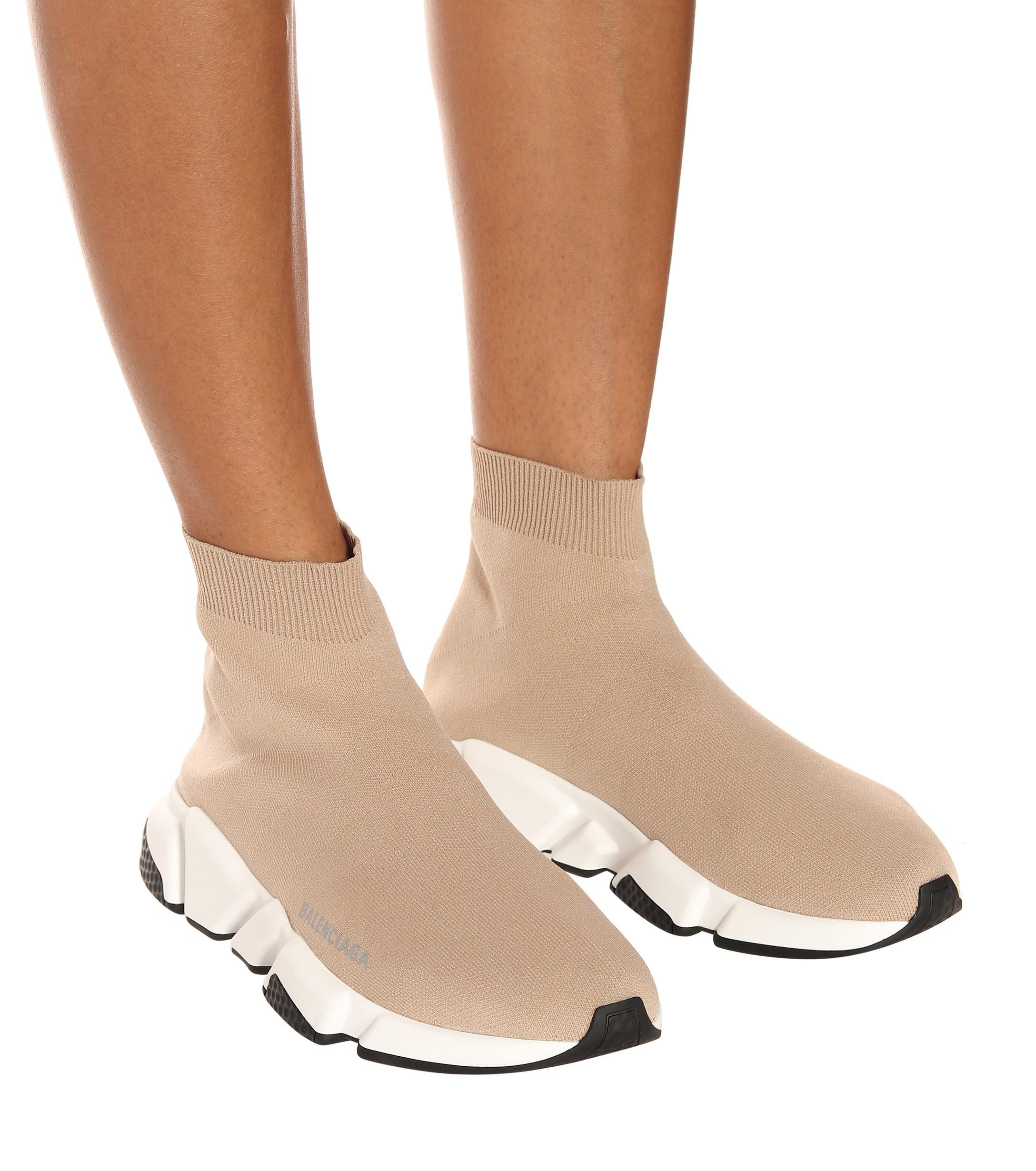 balenciaga sock shoes nude Shop
