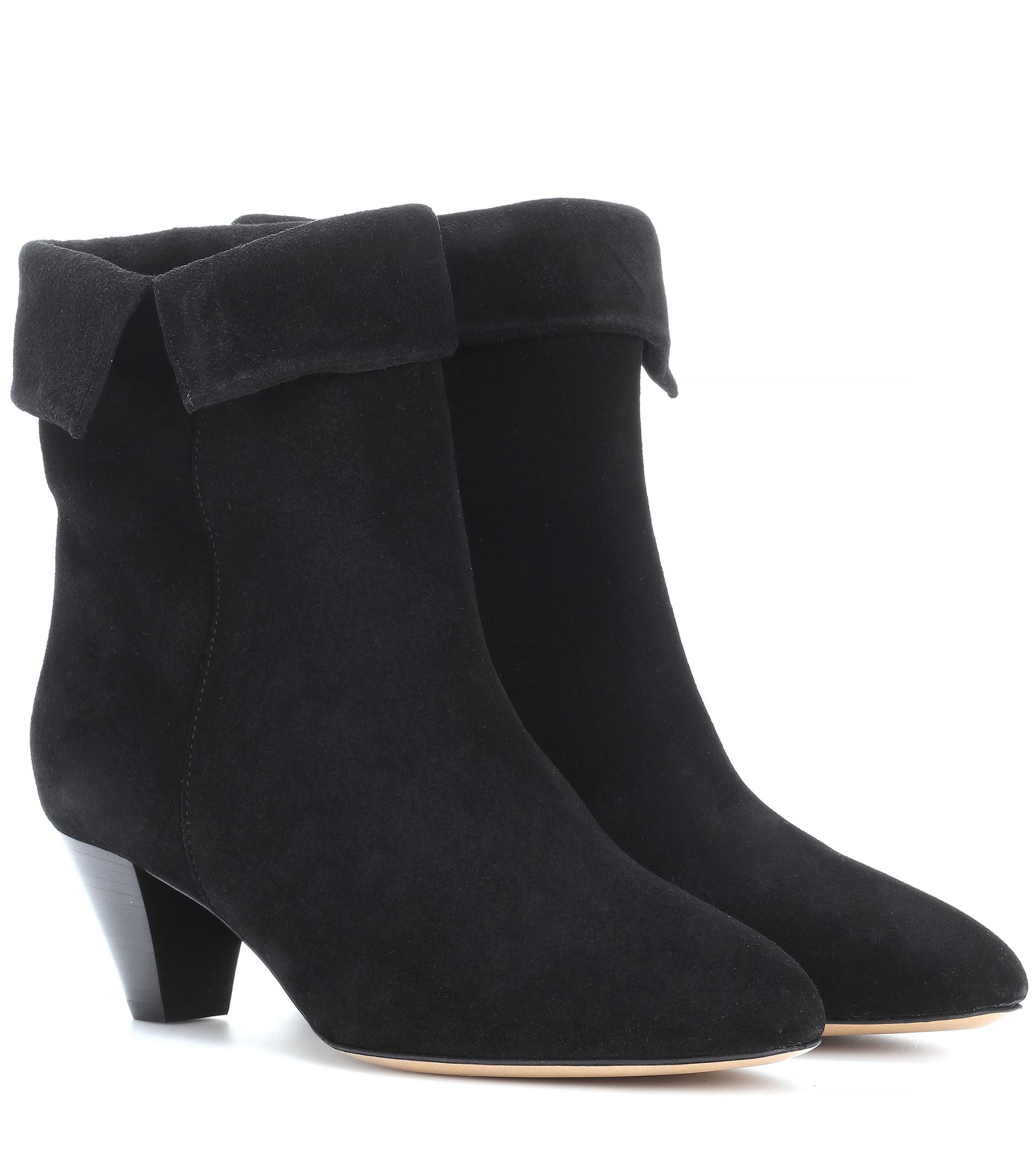 Isabel Marant Women's Derlyn Suede Heeled Ankle Boots - Faded - UK 3 ZpOj7KP