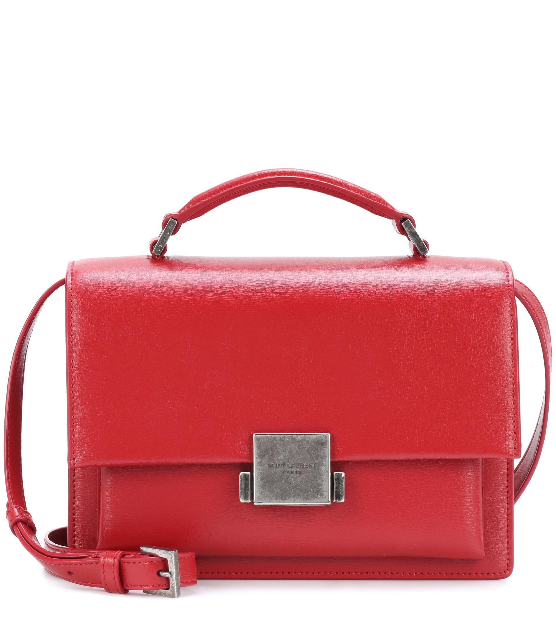 3c8c893537 Saint Laurent Medium Bellechasse Shoulder Bag in Red - Lyst