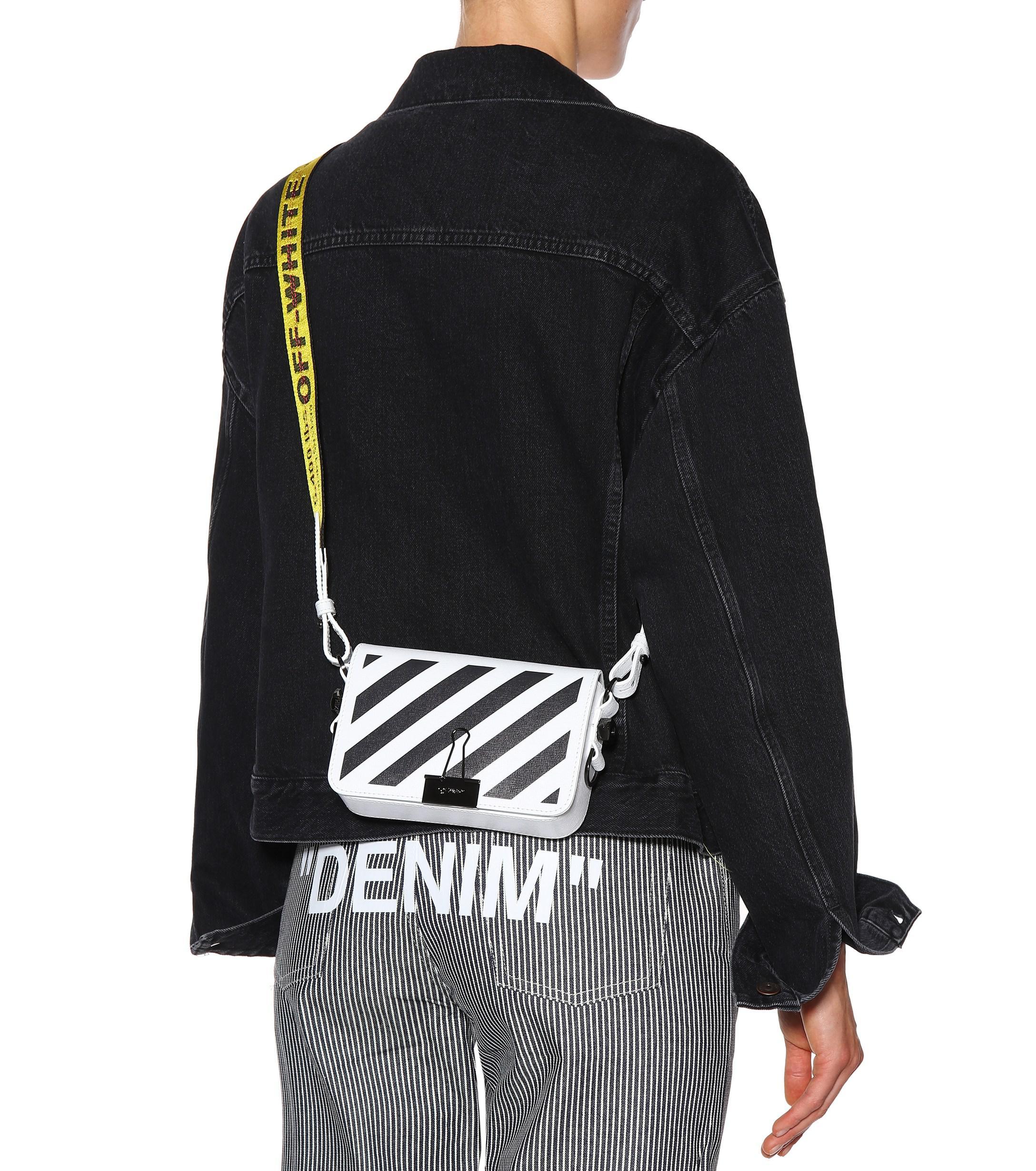 582a6f01 Off-White c/o Virgil Abloh Mini Binder Clip Leather Shoulder Bag in ...