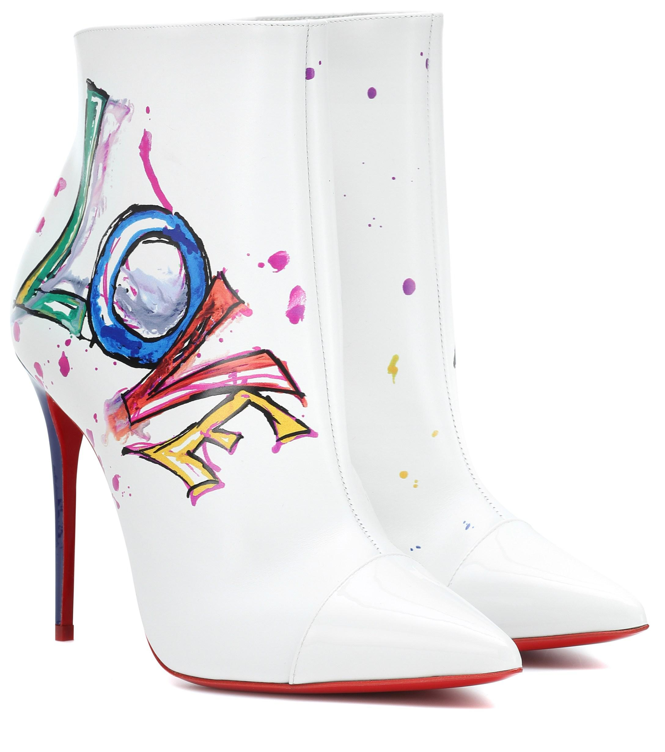 sale retailer 7c576 b5bbb Women's White Boot In Love Leather Ankle Boots