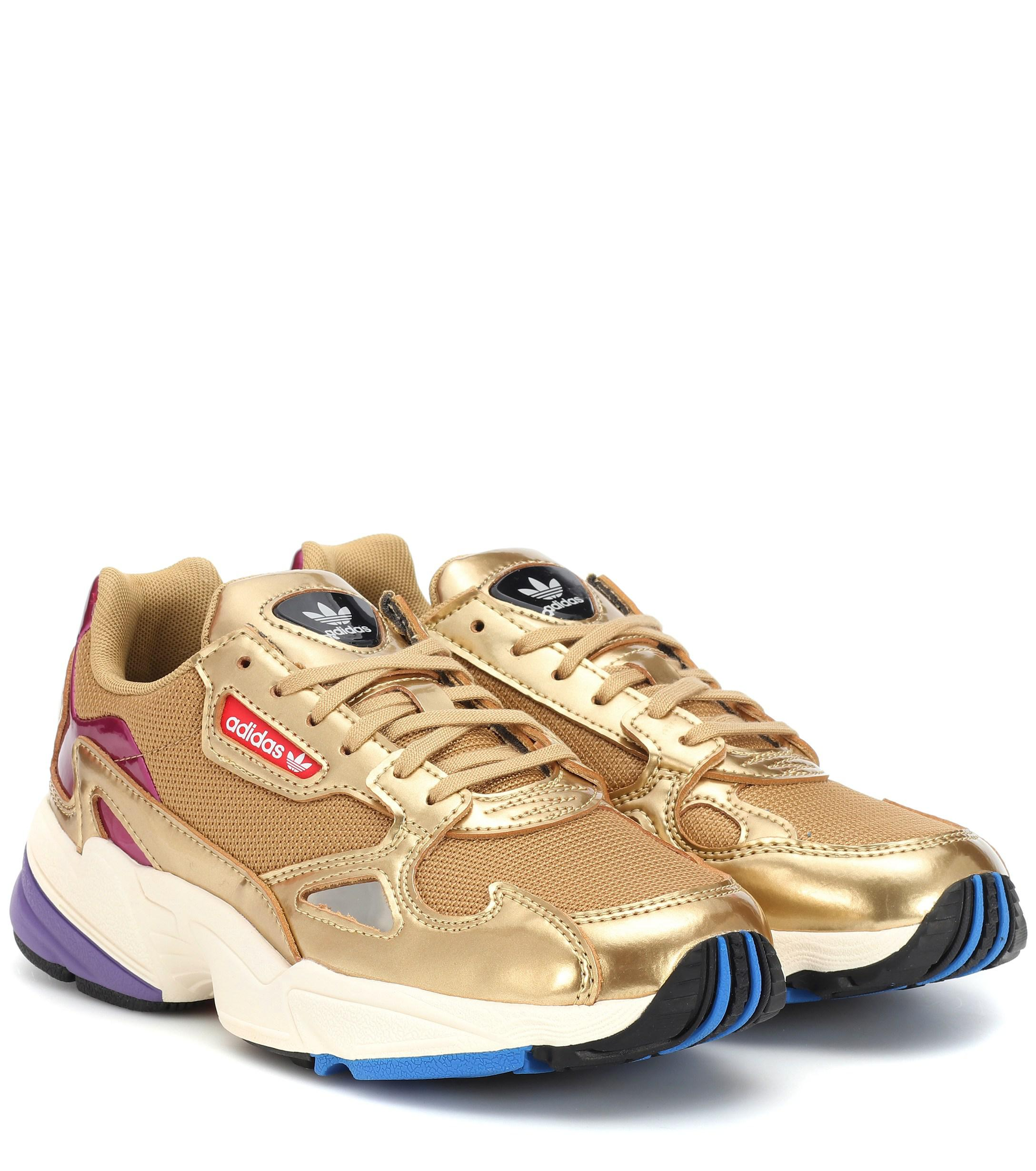 Mit Leder Adidas Falcon Sneakers Originals Metallic 8XwknO0P