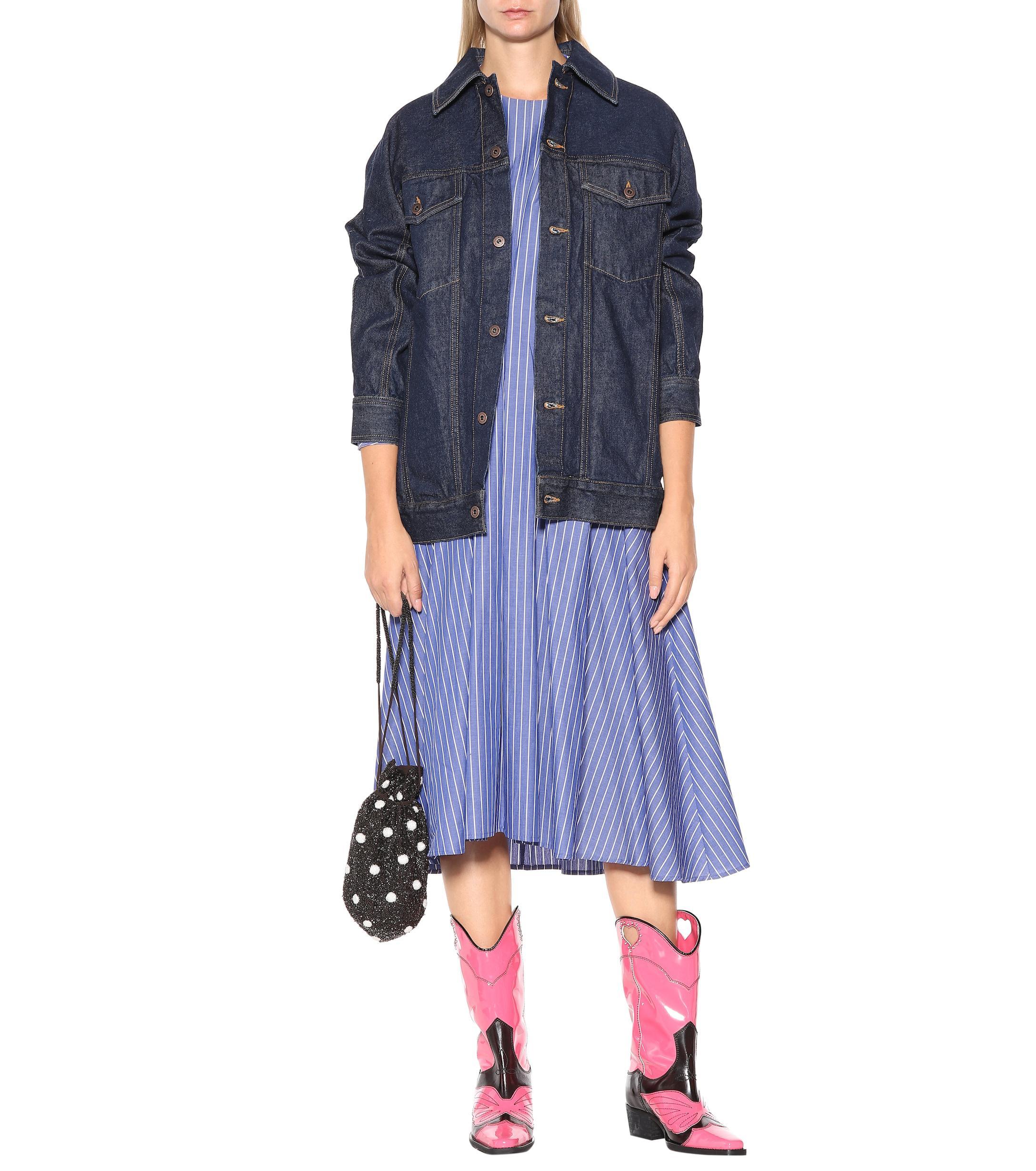 Ganni Cotton Denim Jumpsuit in Hot Pink