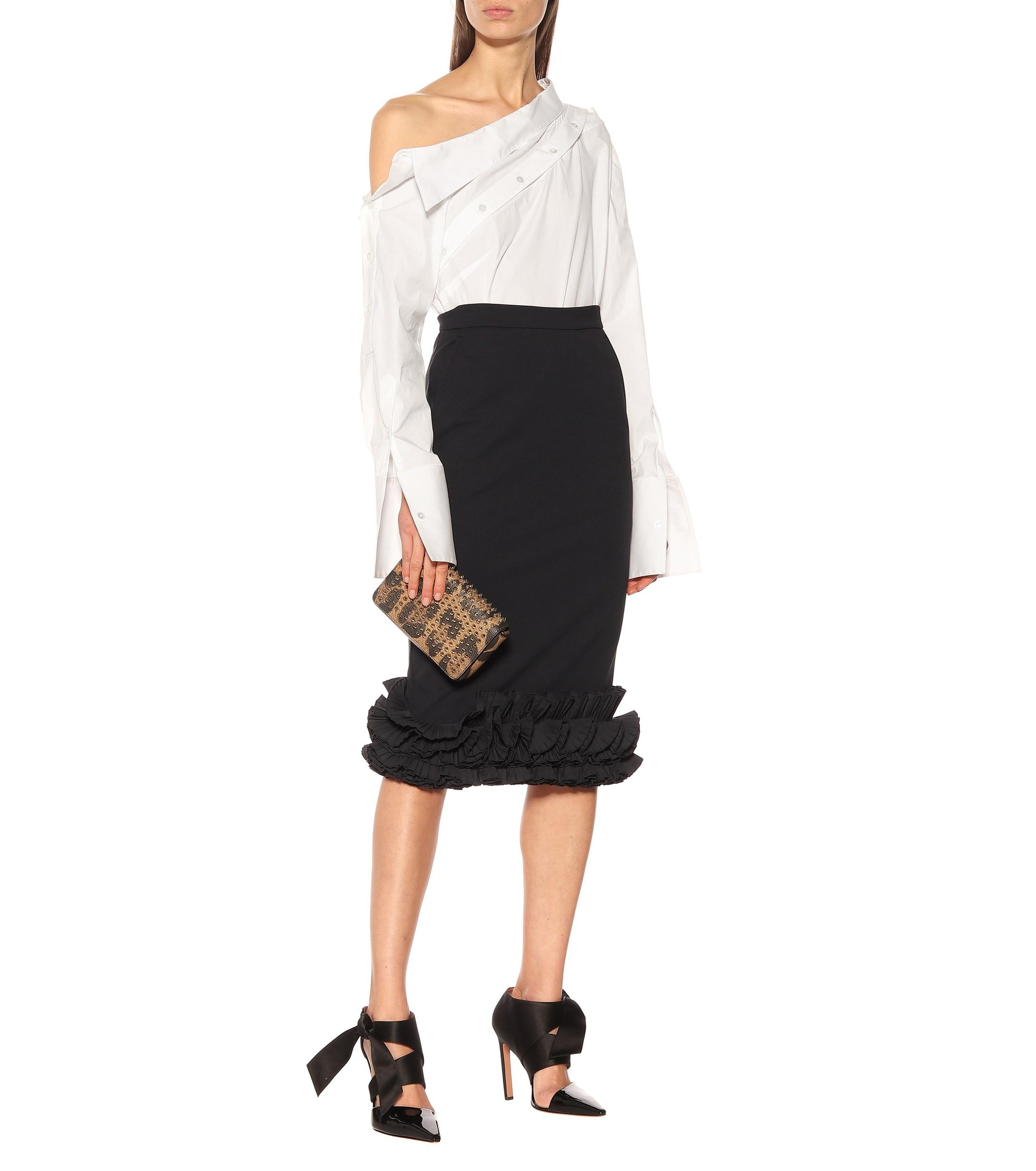 ae2b4536e Lyst - Max Mara Zircone Crêpe Pencil Skirt in Black