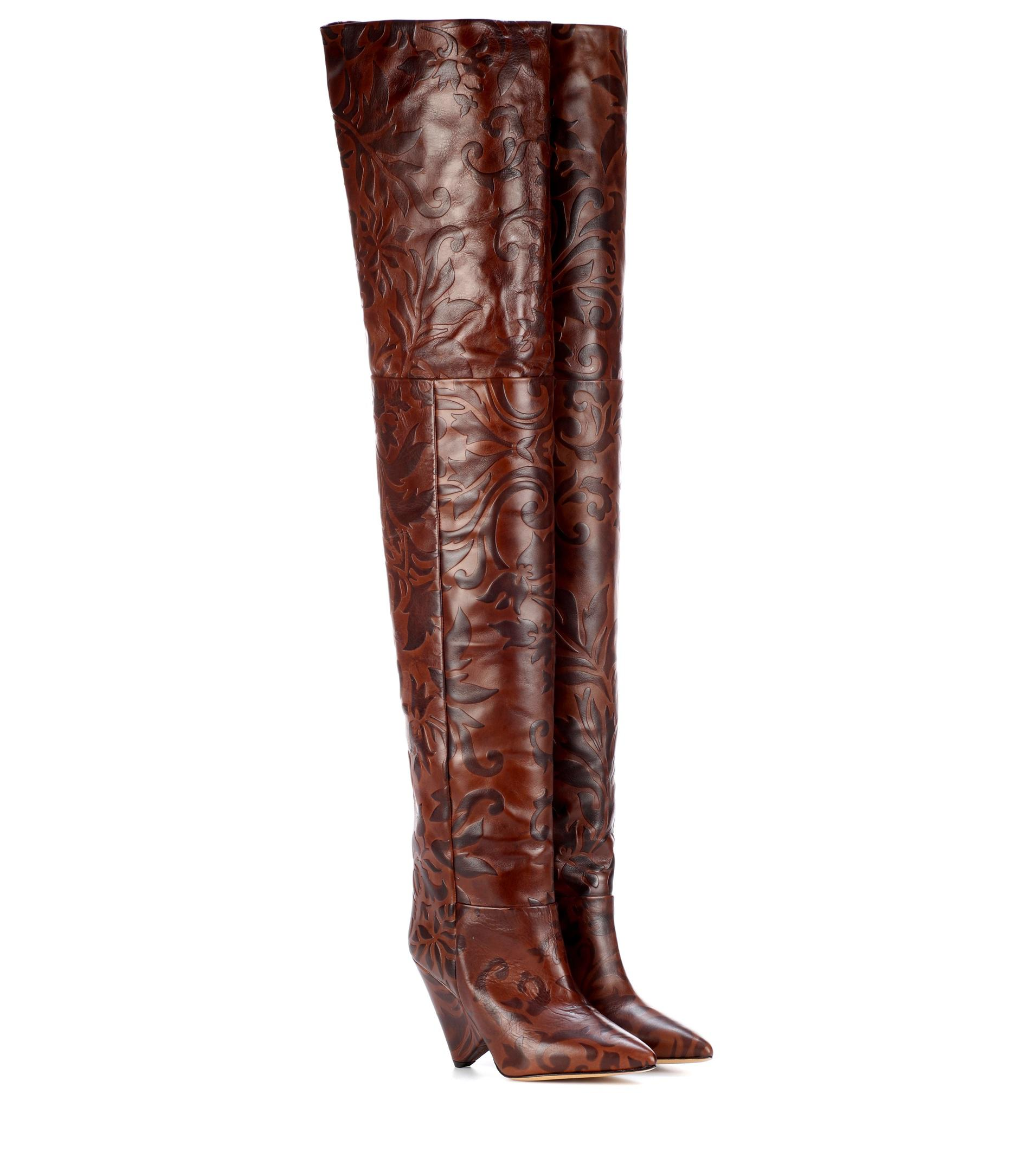 Lostynn embossed leather boots Isabel Marant 5GG5ayzz