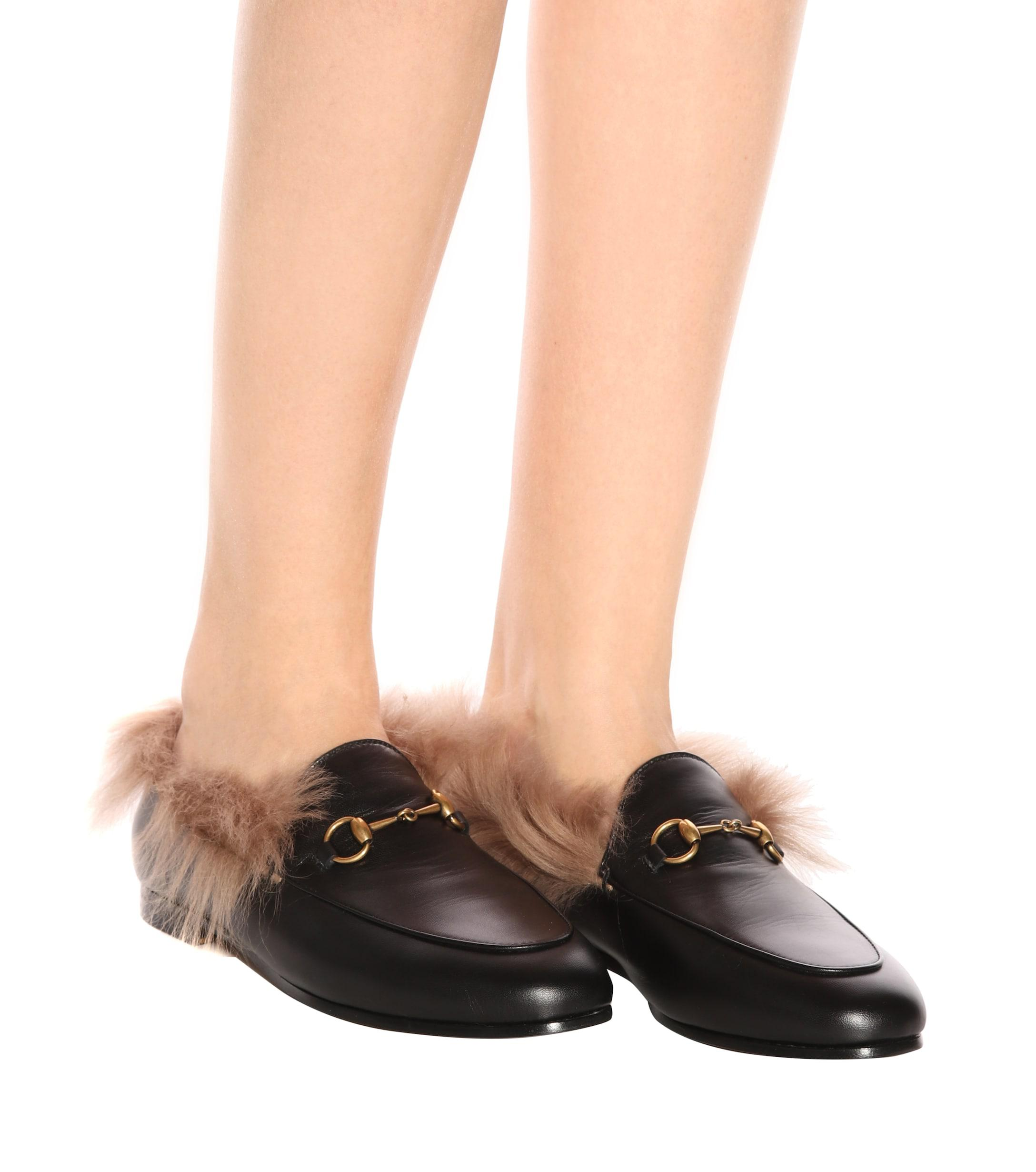 eb7e551d3d4 Gucci - Multicolor Jordaan Fur-lined Leather Loafers - Lyst. View fullscreen
