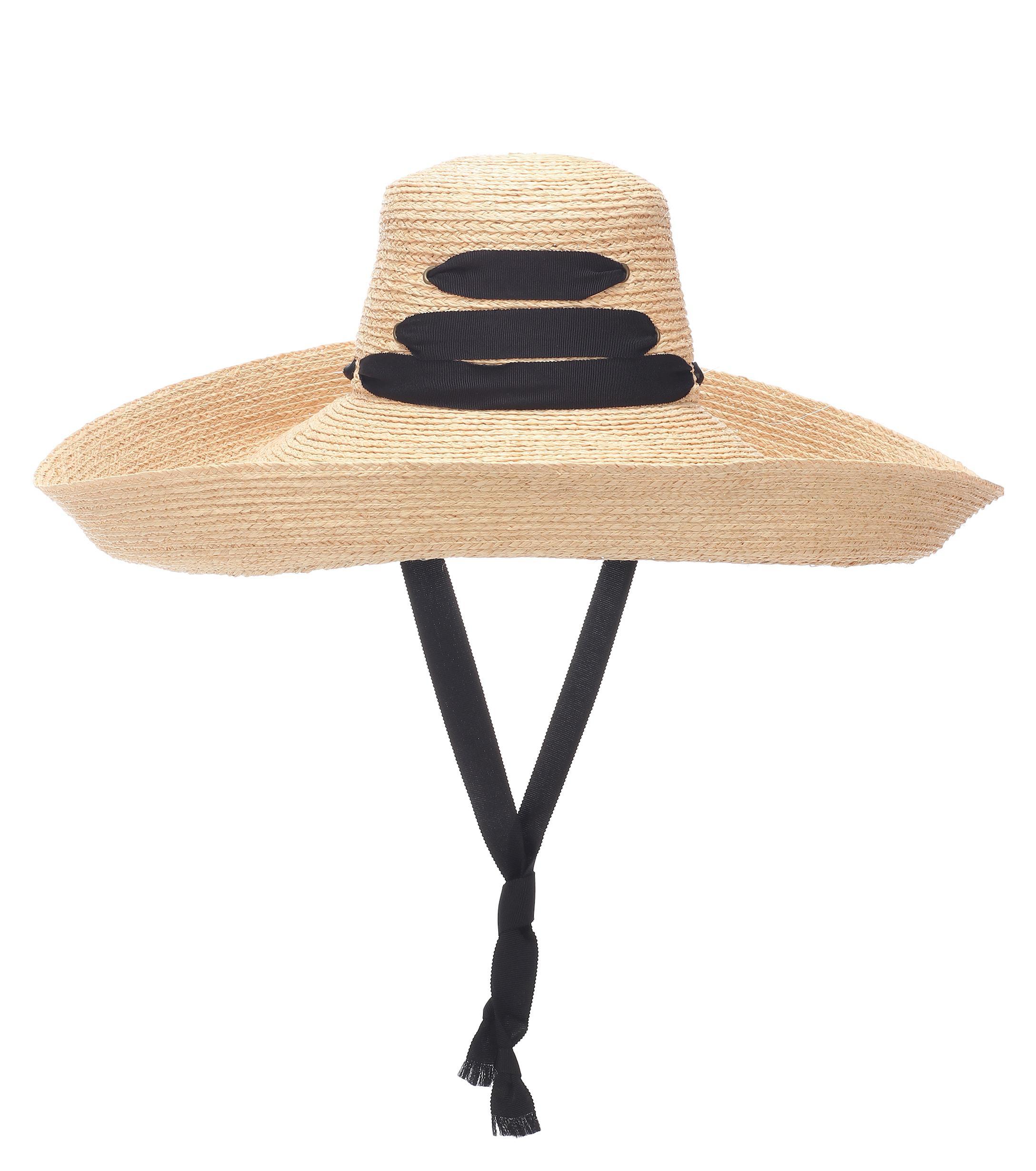 fe9bce4b0c5 Lola Hats Espartina Raffia Hat in Black - Lyst