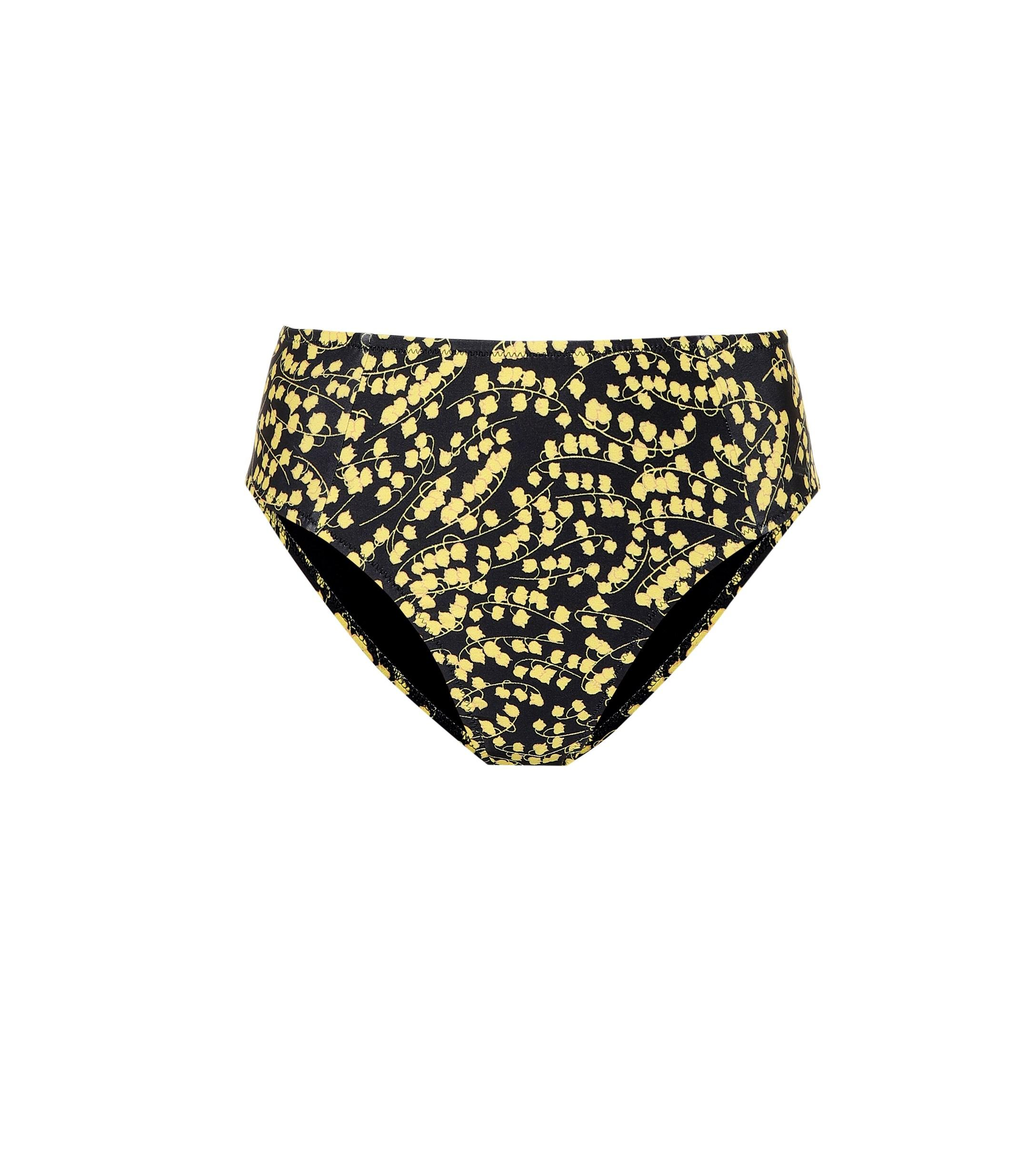 1b9e25b95c4 Lyst - Ganni Printed Bikini Bottoms in Black