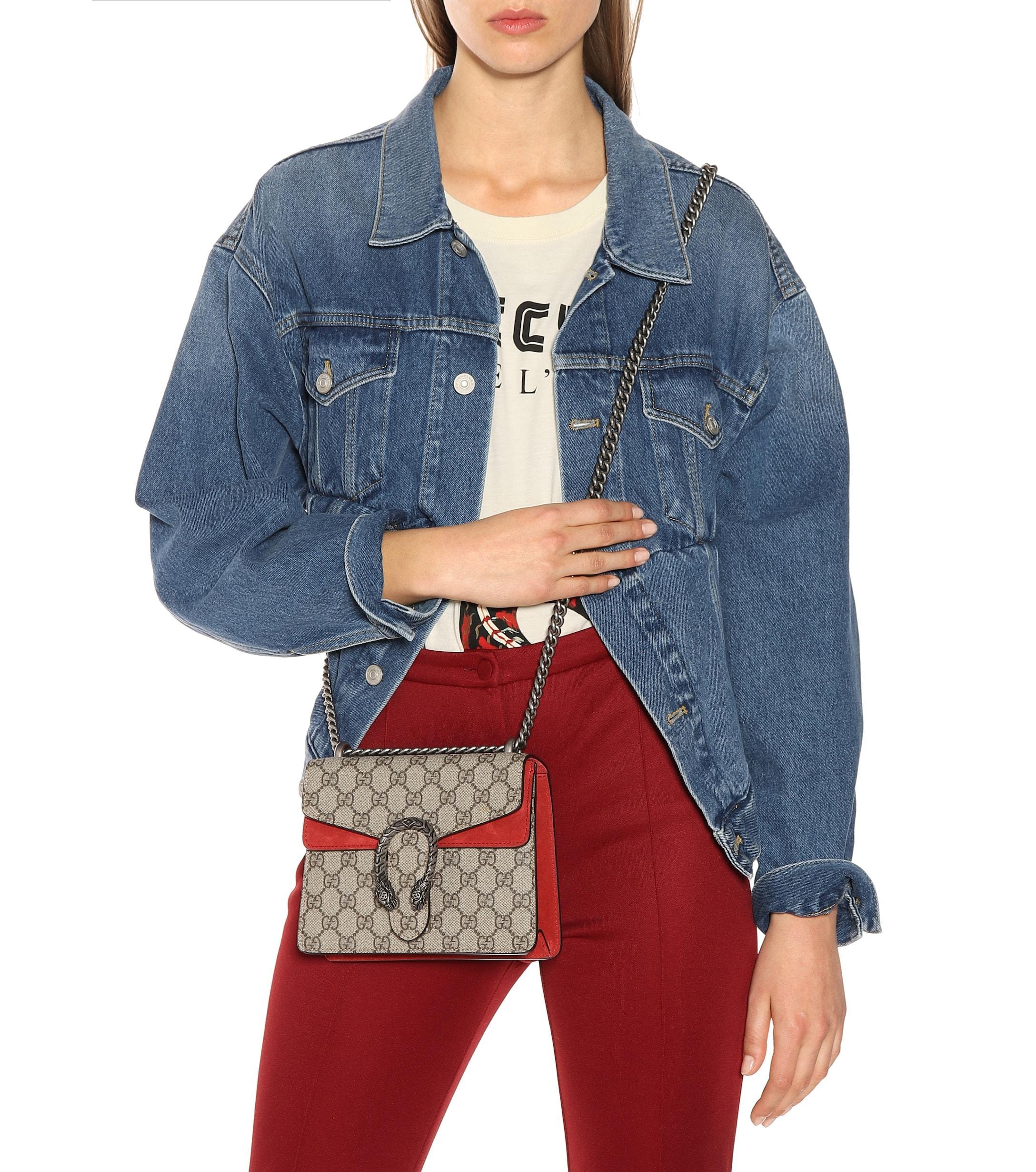 9dcfe63d Gucci Natural Dionysus GG Supreme Mini Shoulder Bag. View fullscreen