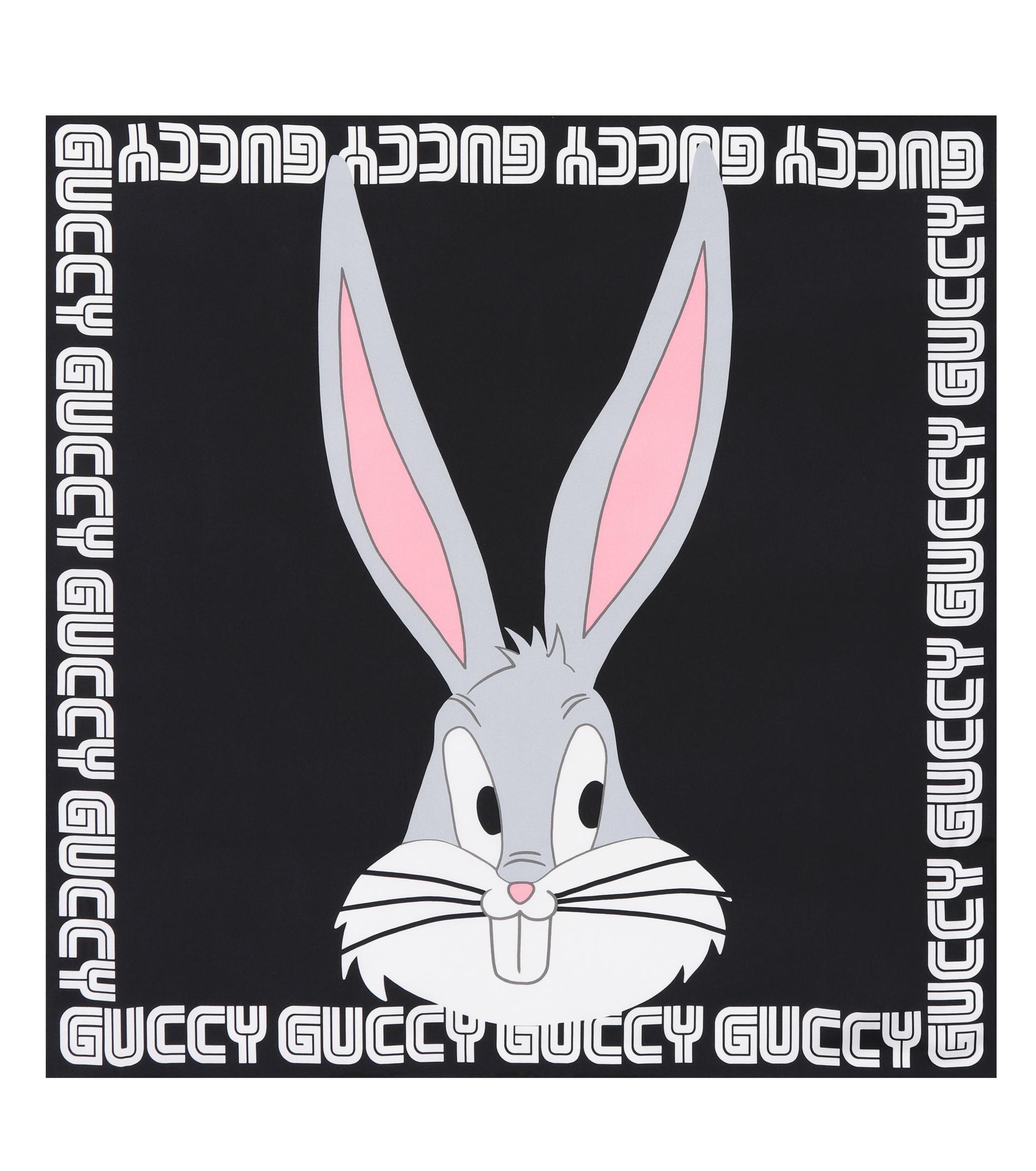 Lyst - Foulard noir Guccy Bugs Bunny Gucci en coloris Noir a849c2491e6