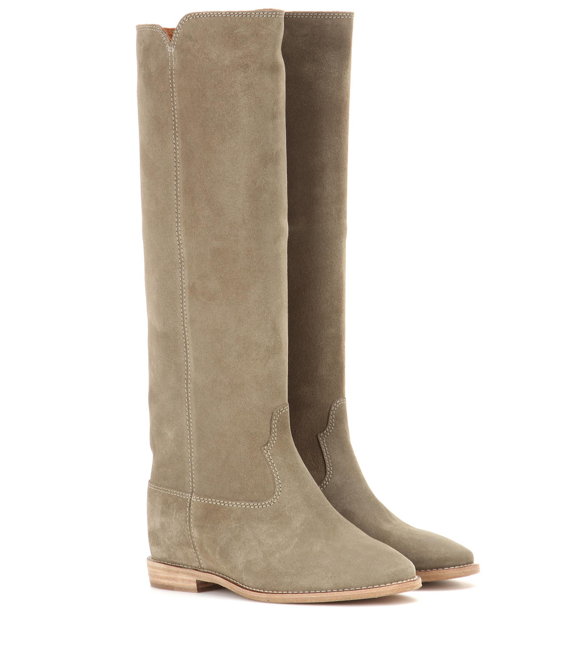 Isabel Marant étoile Cleave concealed wedge suede boots UBYwFg4fry