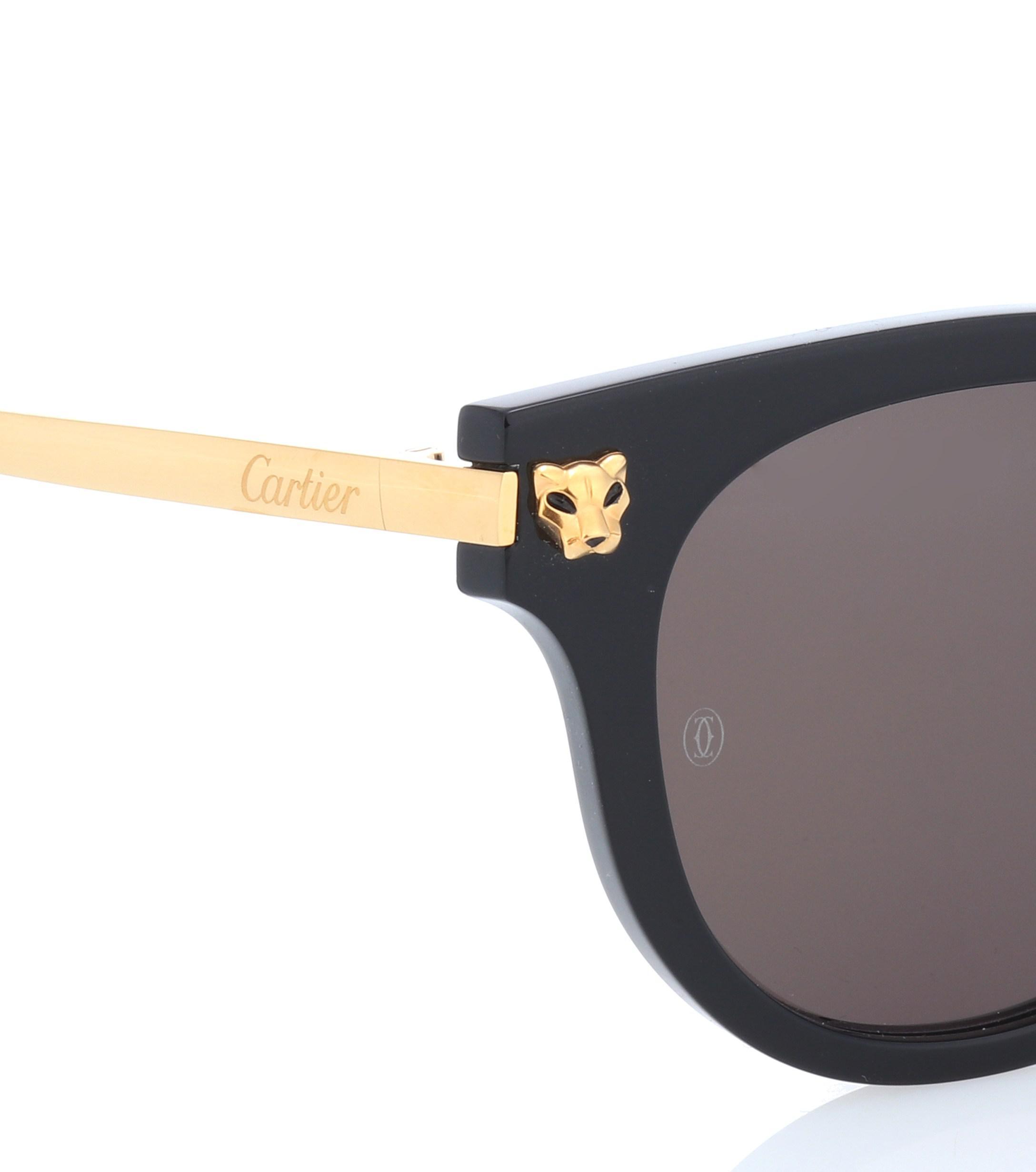 Cartier - Black Gafas de sol Panthère de Cartier - Lyst. Ver en pantalla  completa b82282e5094f