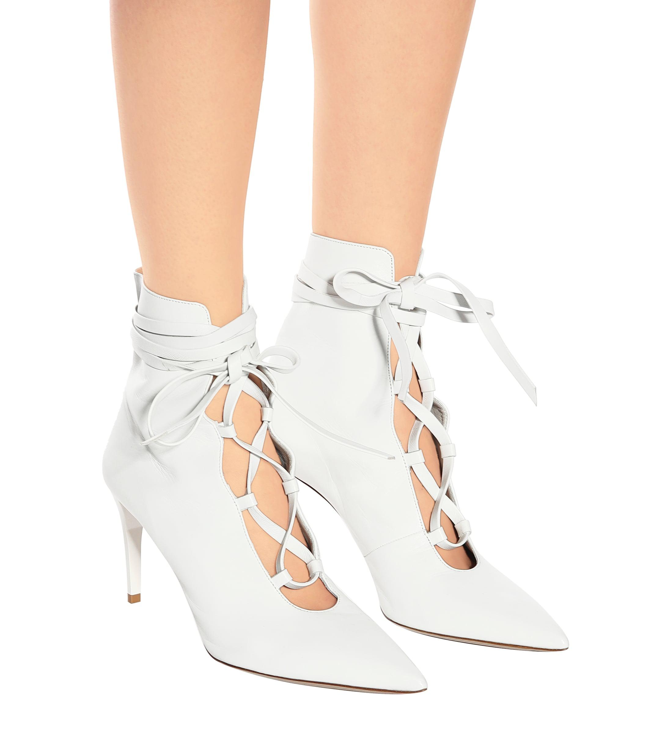 Botines de piel Miu Miu de Cuero de color Blanco