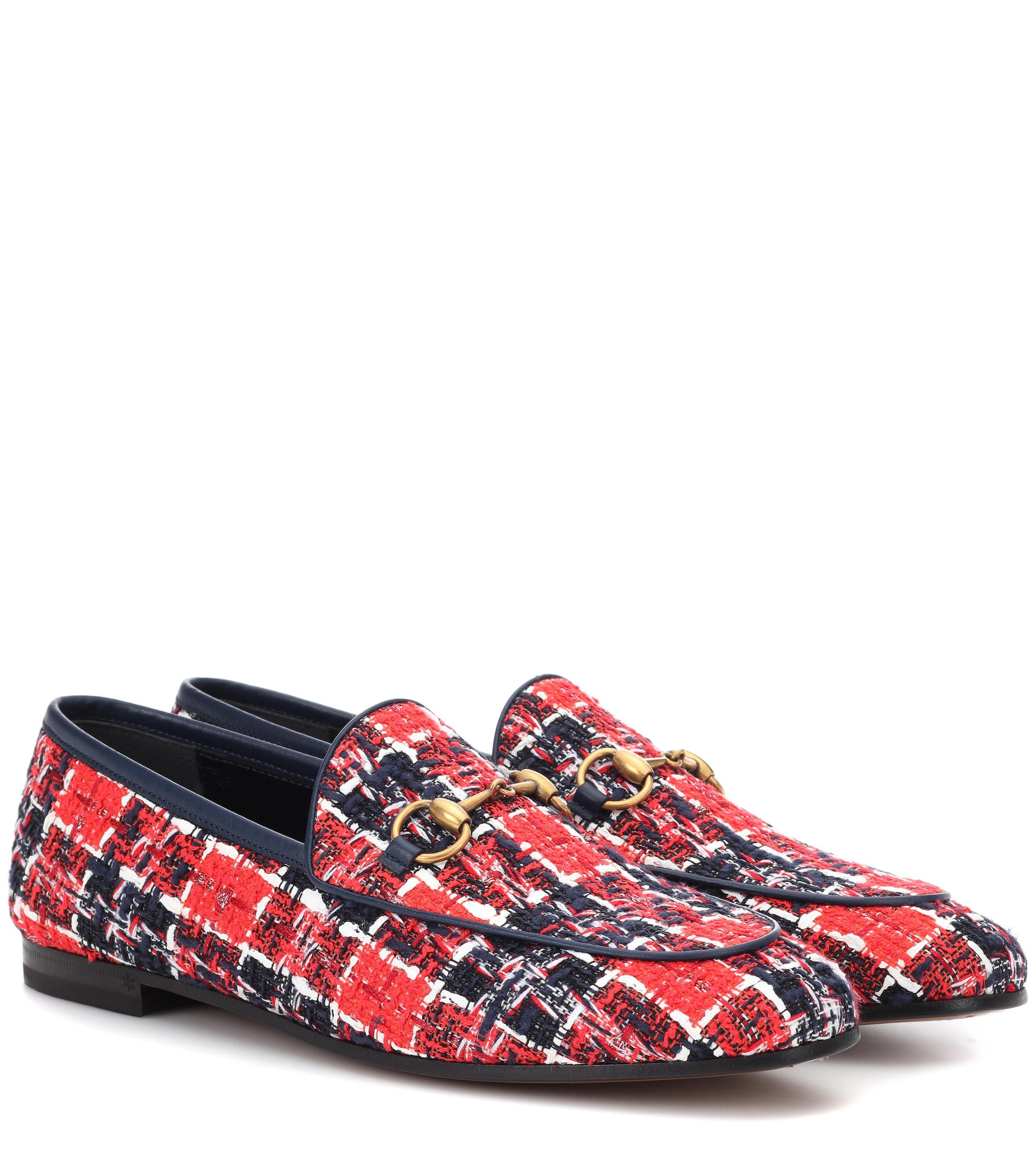 723ed319e Gucci. Women's Jordaan Tweed Loafers