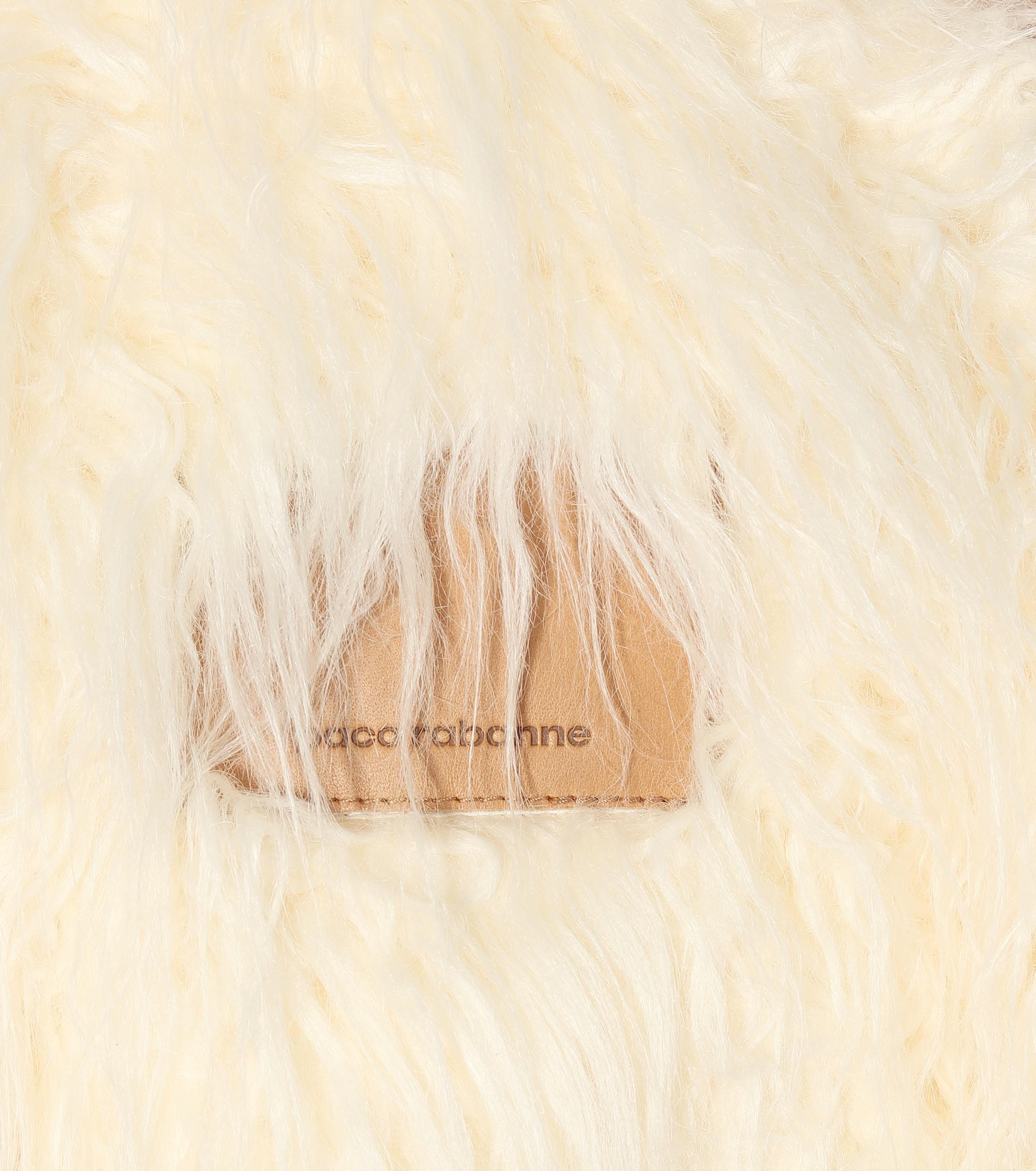 Chaqueta de pelo sintético Paco Rabanne de color Blanco