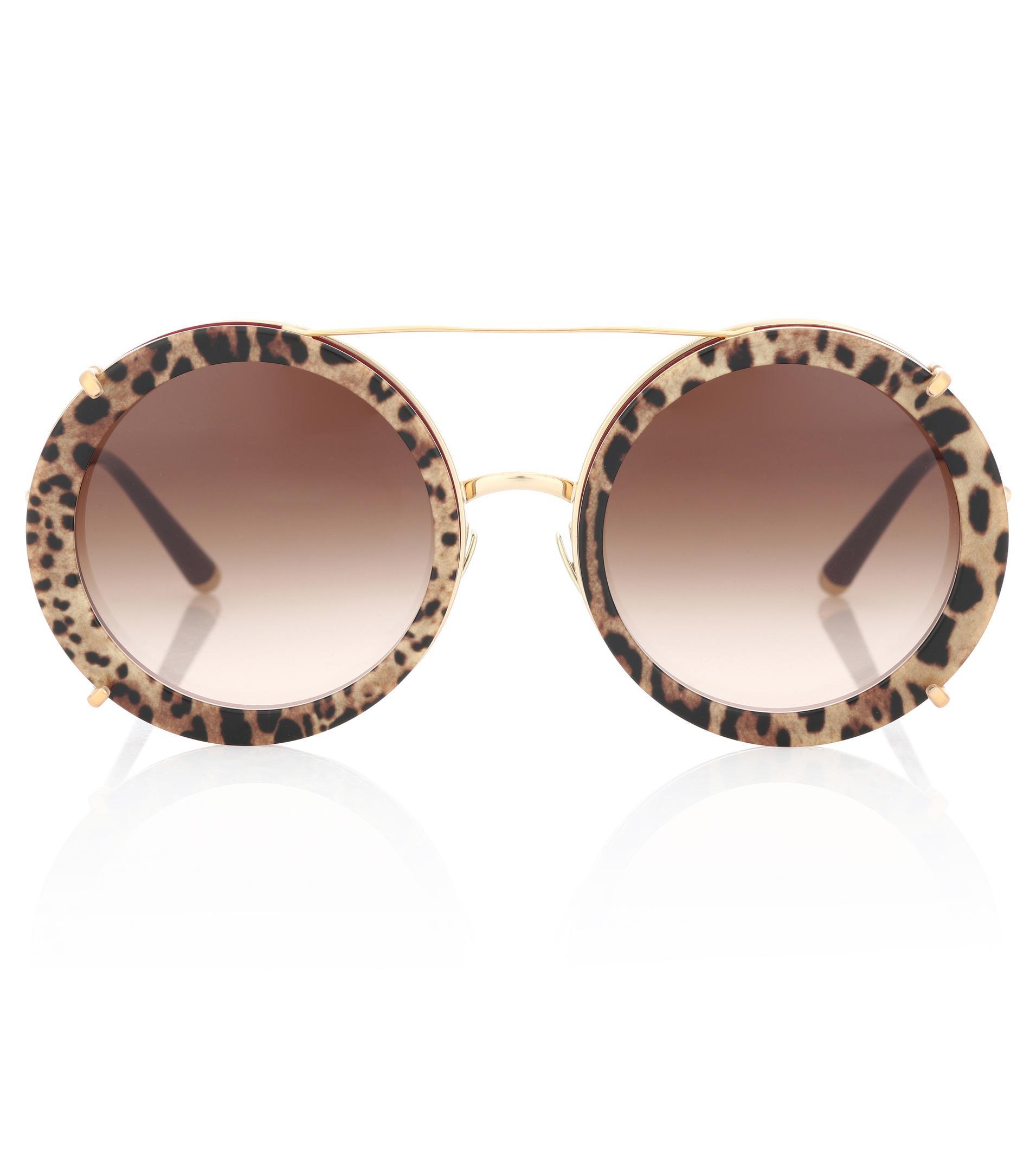 En « Coloris » Gabbana Bordures Métal De Lunettes Soleil Rondes Avec Sacro Dolceamp; Brown Cuore OnPwk0