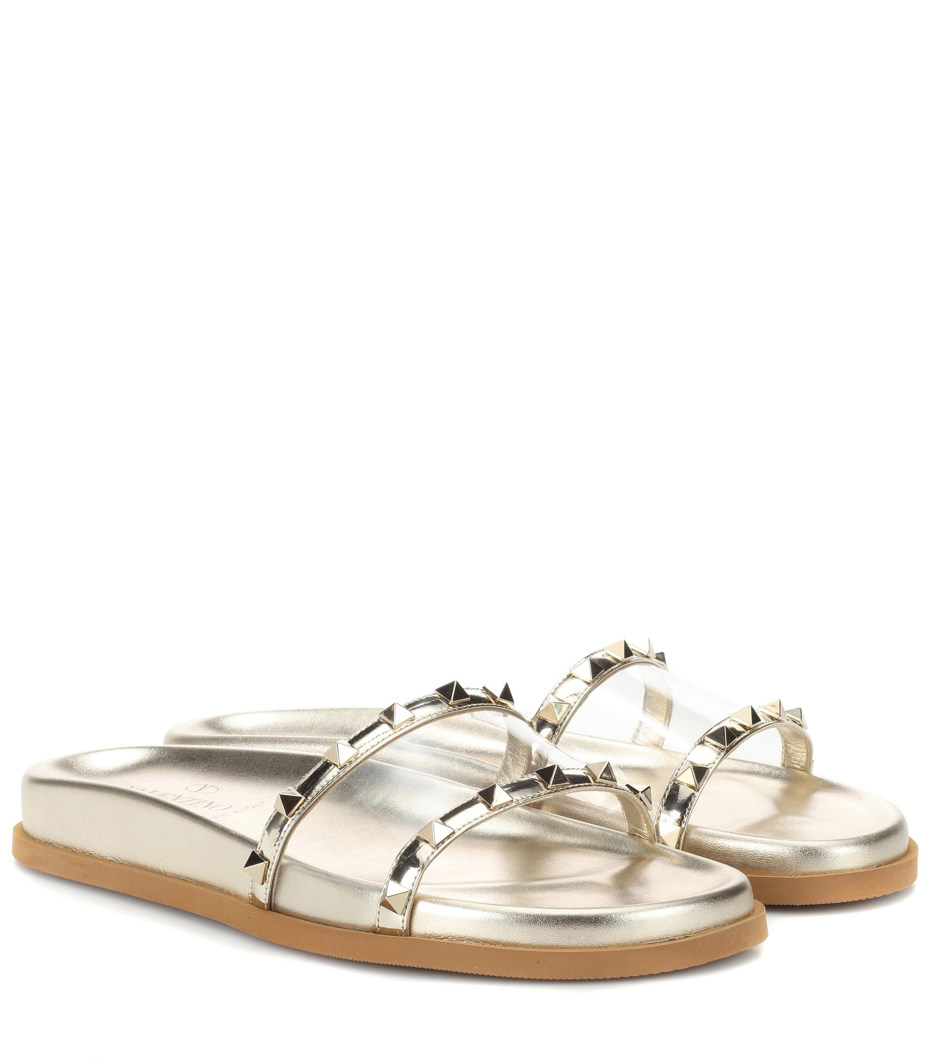Valentino Valentino Garavani Moonwalk Rockstud sandals free shipping manchester great sale 9liaQSn18U