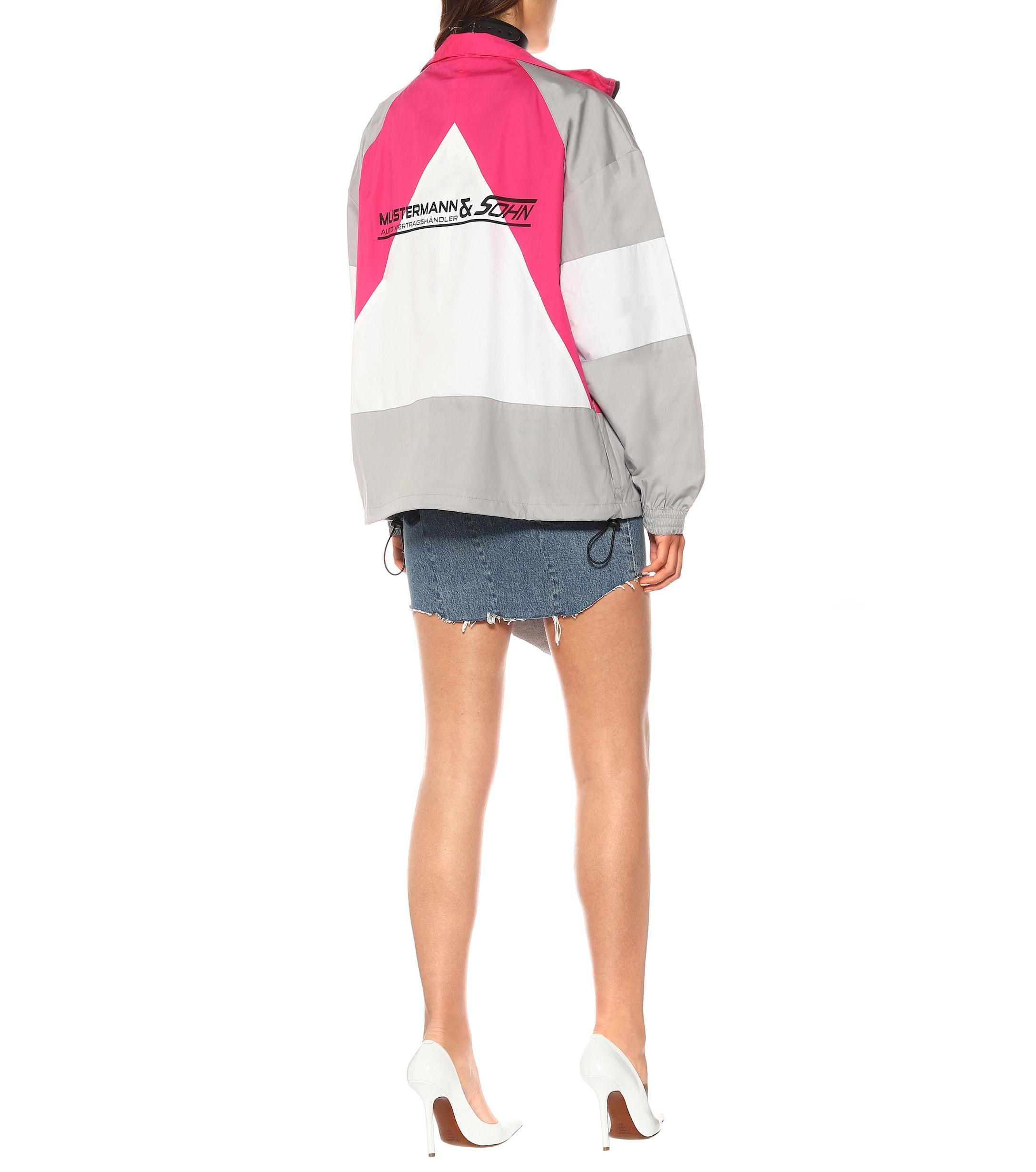 Chaqueta de chándal de algodón Vetements de Algodón de color Rosa
