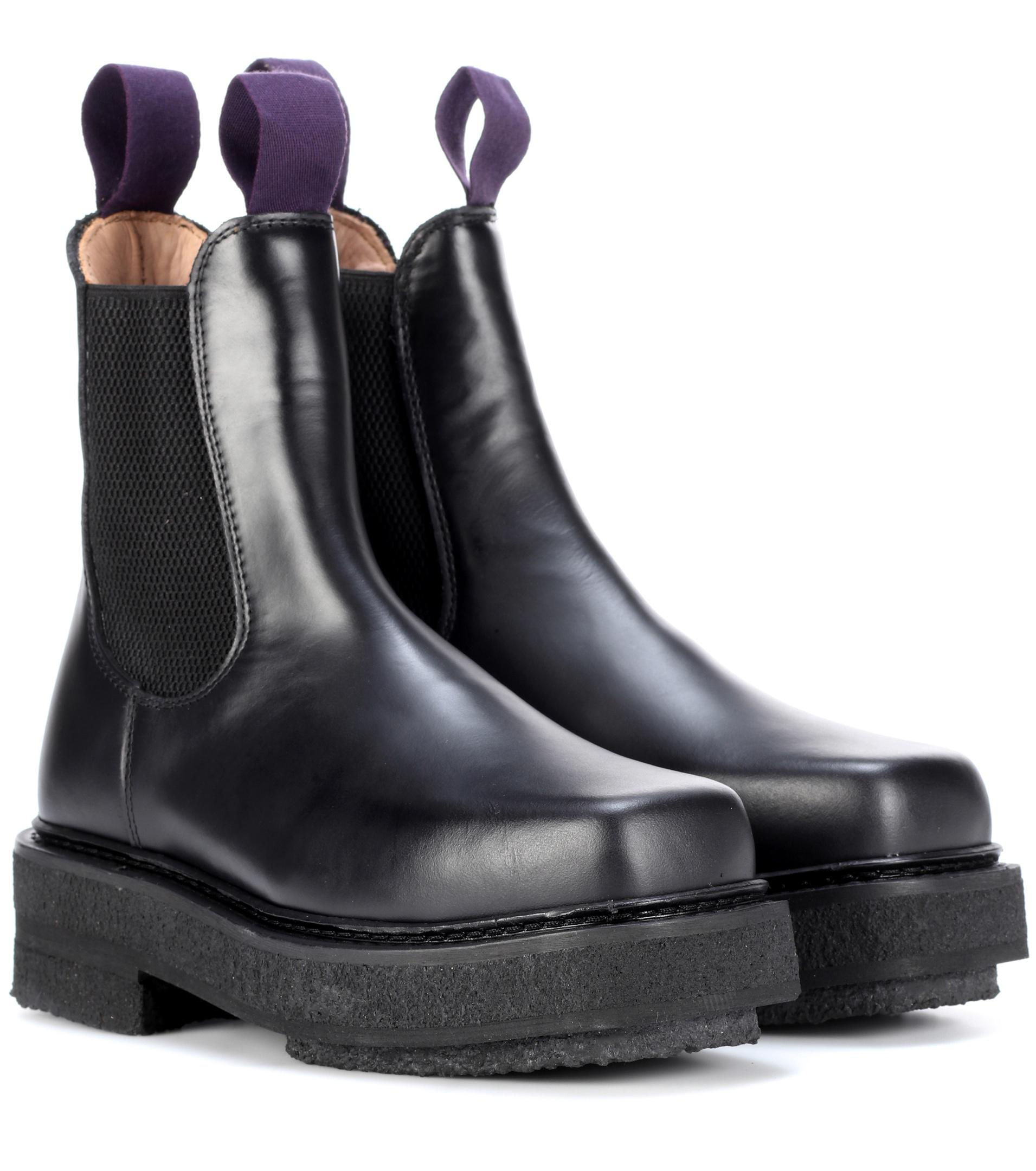deft design diversified in packaging fine quality Eytys Black Ortega Leather Ankle Boots